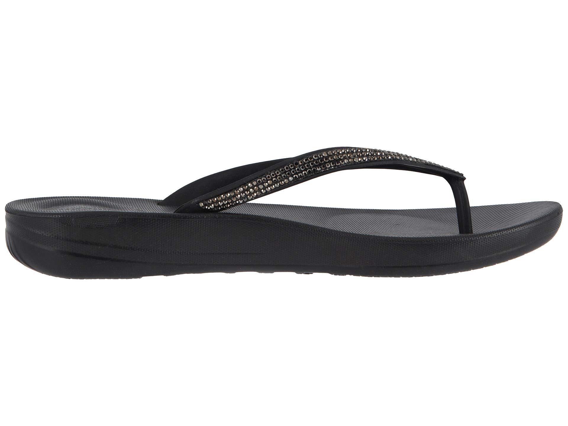 bc9e99dcfbdd Lyst - Fitflop Iqushion Sparkle (black) Women s Shoes in Black