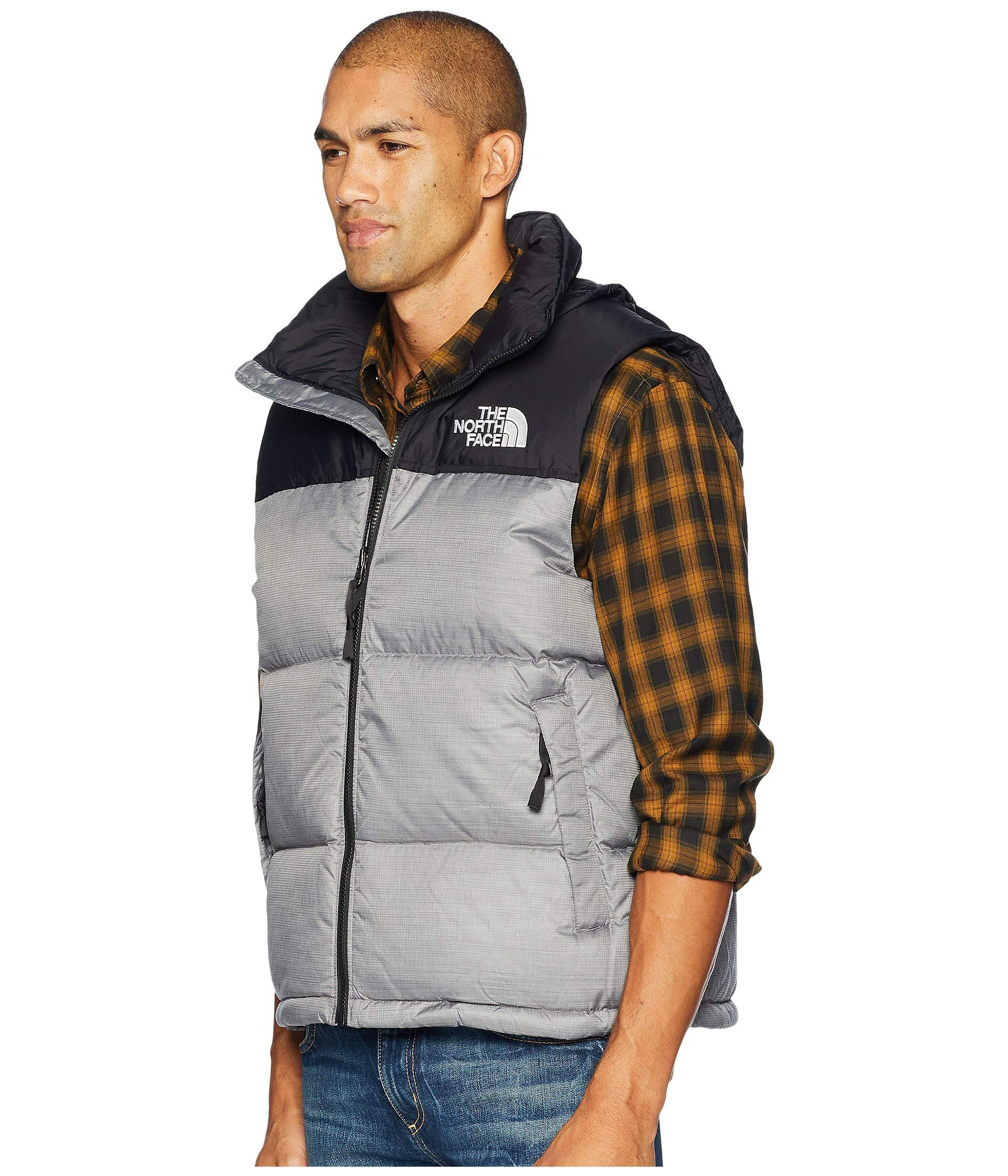 2b5fd3012b Lyst - The North Face 1996 Retro Nuptse Vest (aztec Blue) Men s Vest in Gray  for Men