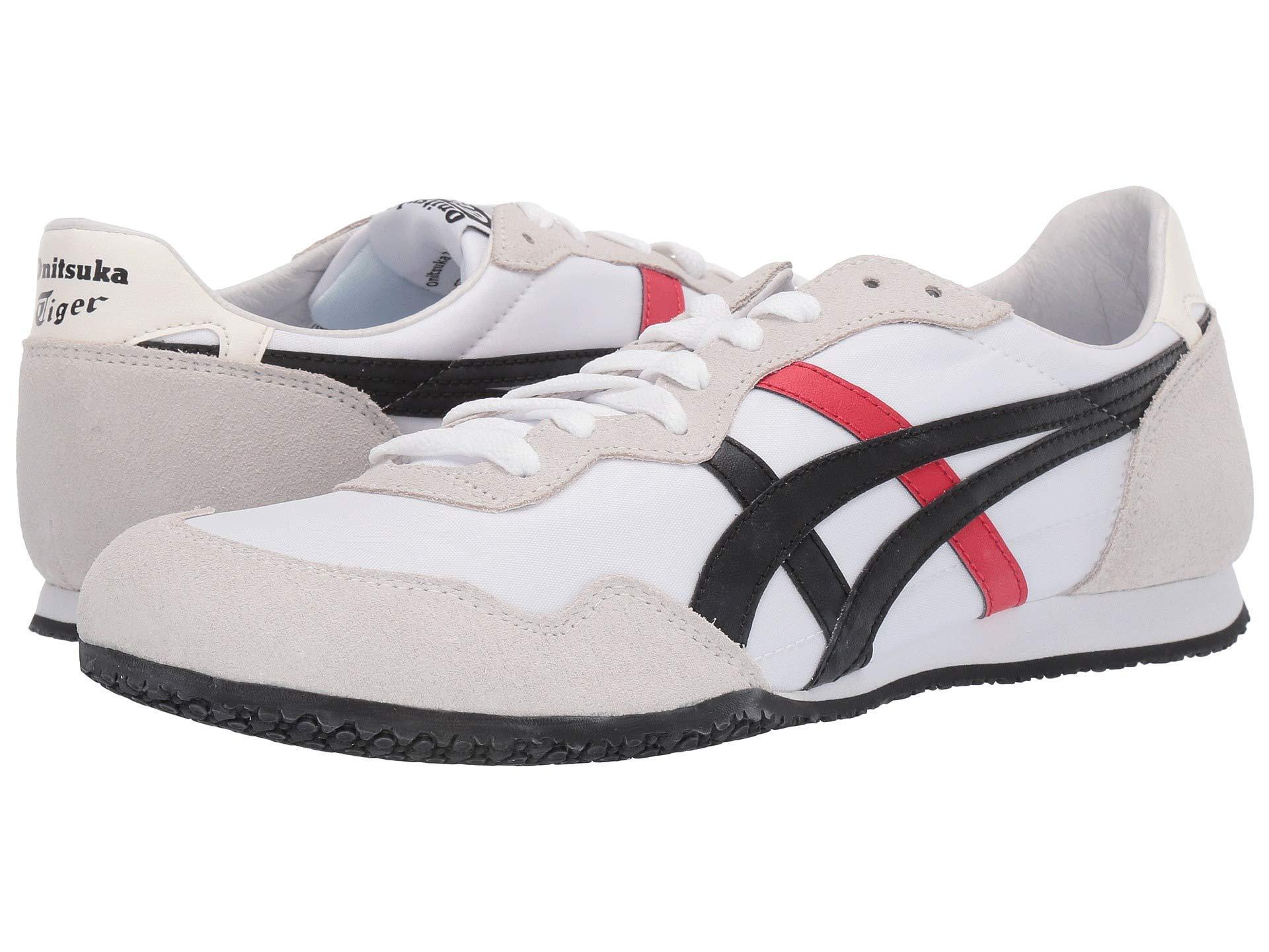 784bbe4c6eb3 Lyst - Asics Serranotm (white black 3) Classic Shoes in White for Men