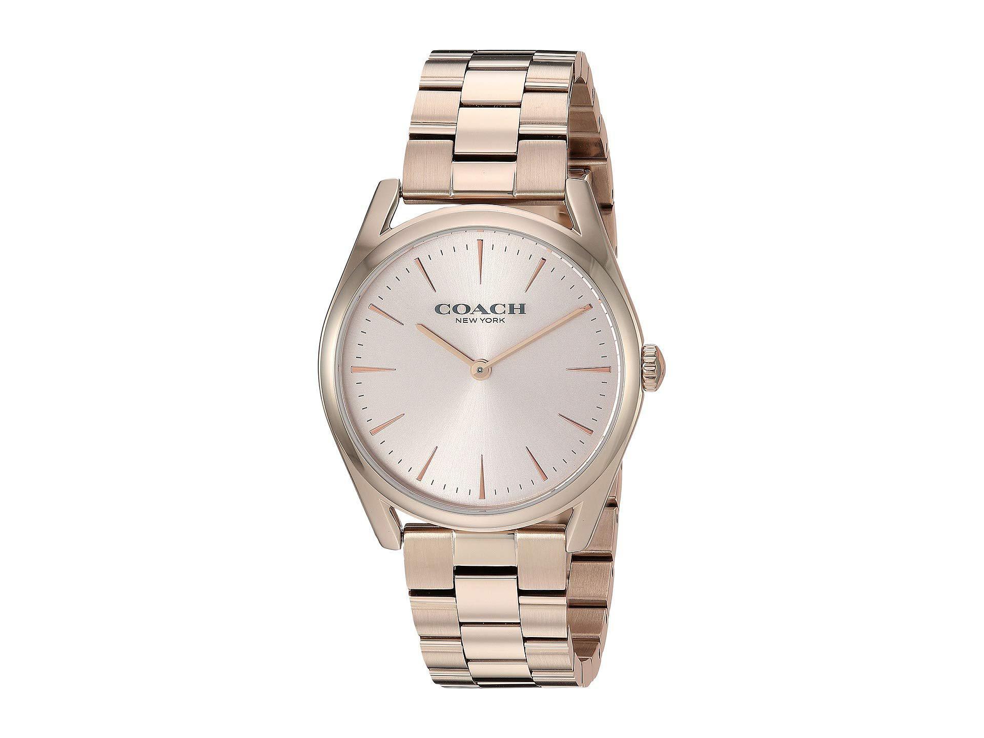 1b628195563 Lyst - COACH Preston - 14503111 (pink) Watches in Pink