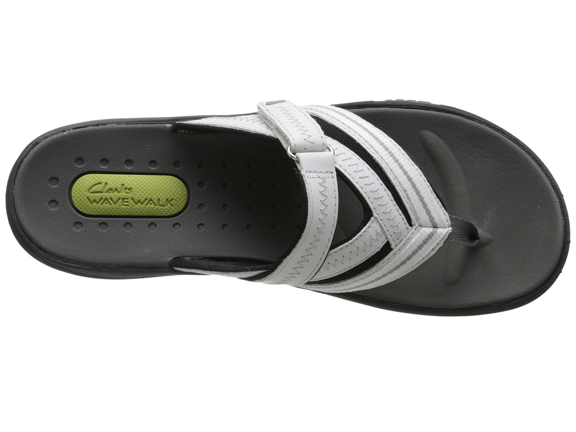 9a92ad4394e5 Lyst - Clarks Wave Coast (black Nubuck) Women s Shoes in White