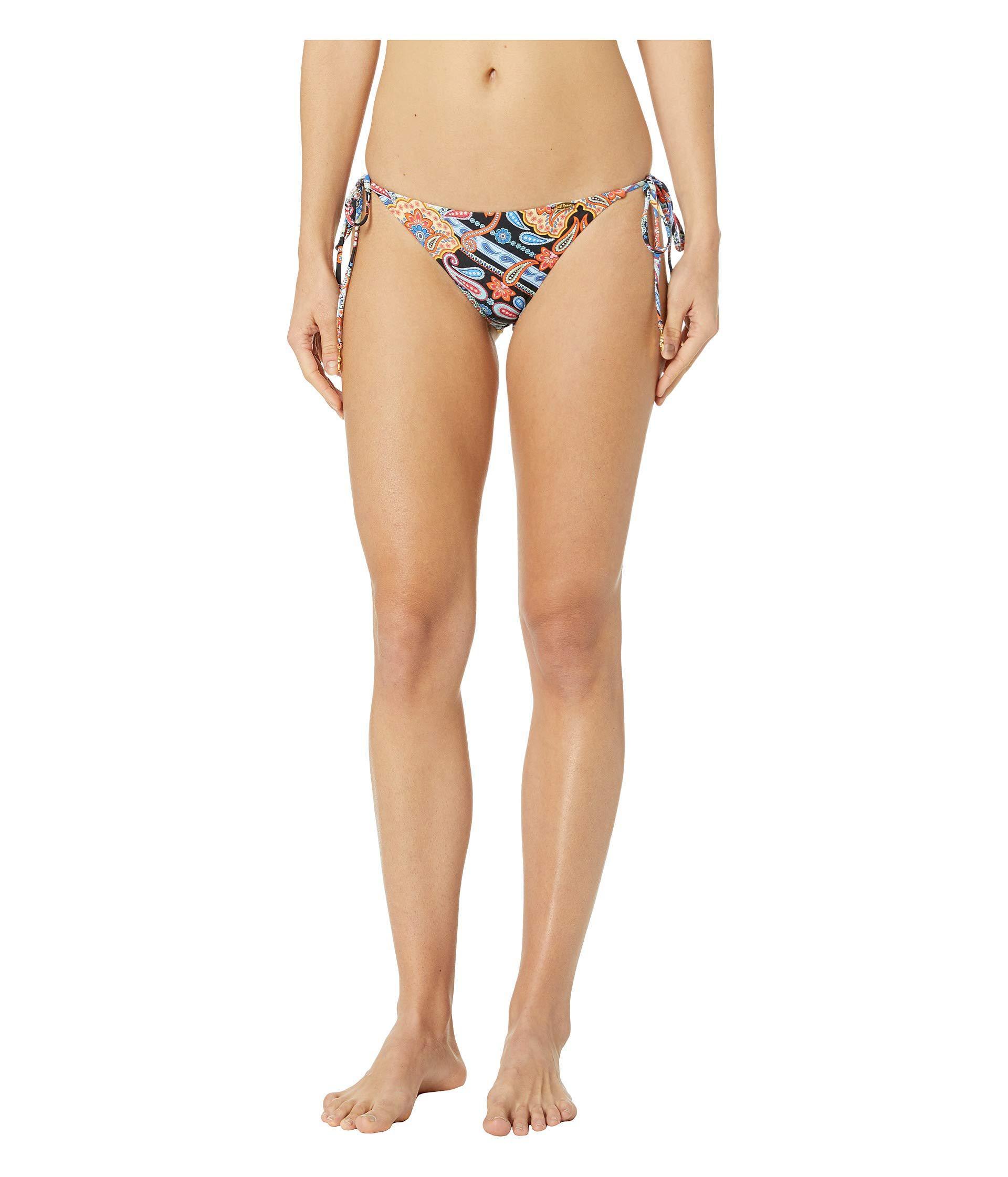 63c036206c1 Luli Fama. La Maestranza Reversible Wavy Ruched Back Brazilian Tie Side  Bottoms (black) Women's Swimwear