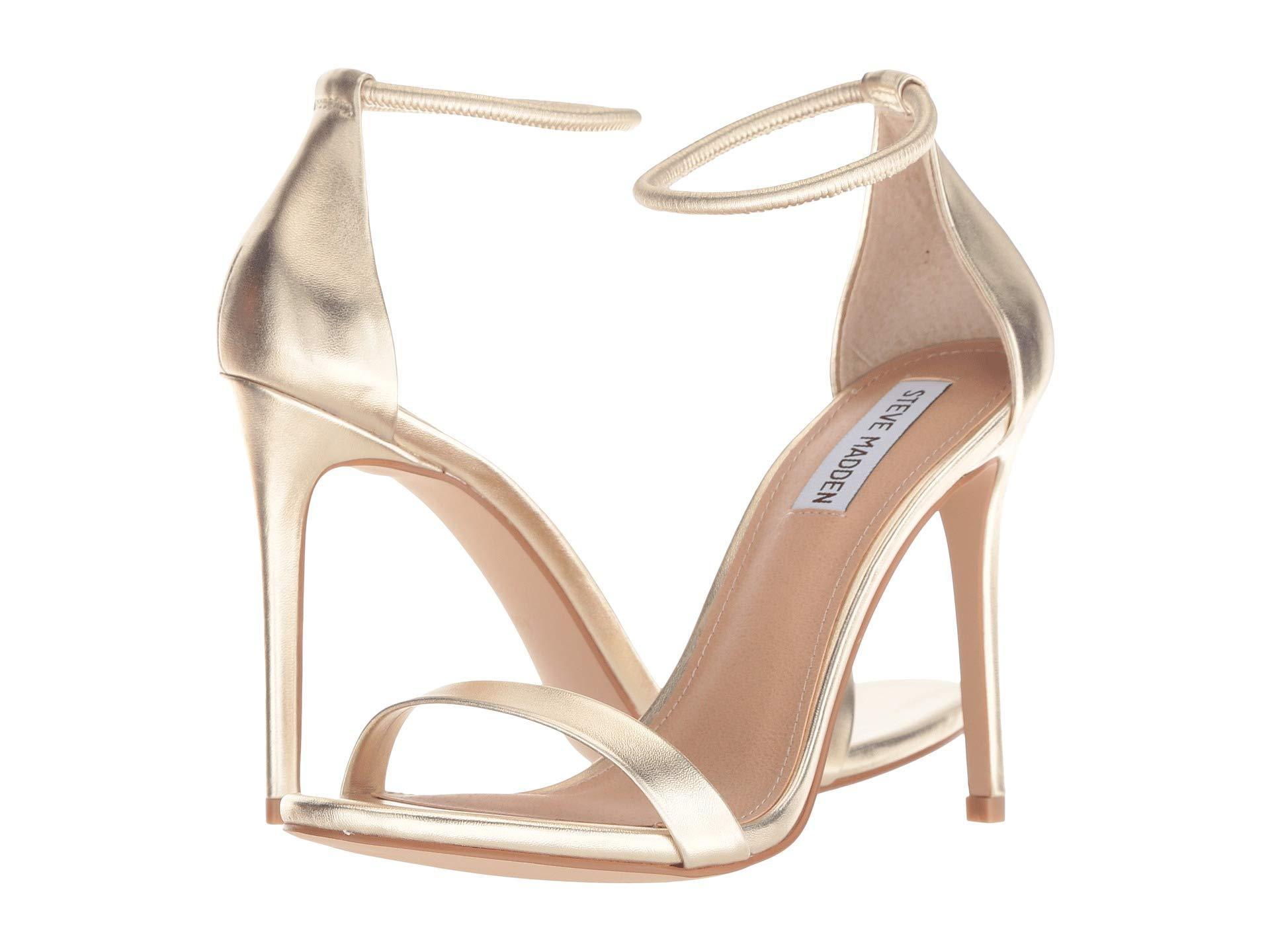 424aaf5d160 Steve Madden - Natural Soph Heeled Sandal (silver) High Heels - Lyst. View  fullscreen