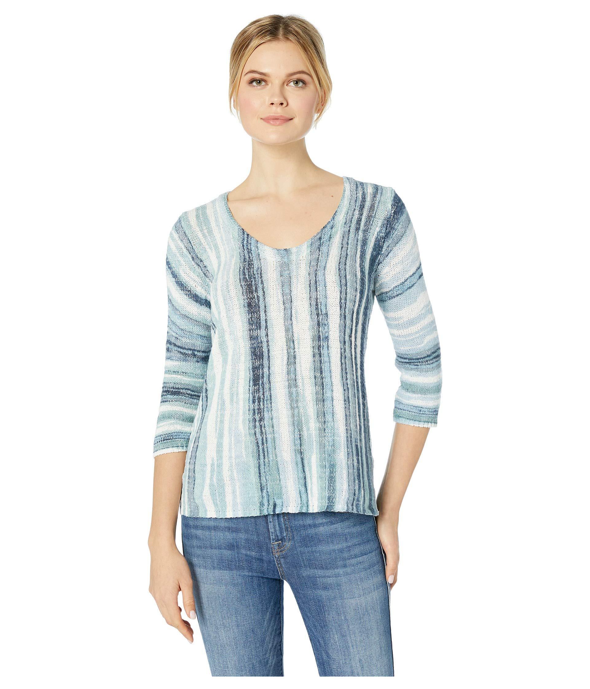 0f0970fd9a8727 Lyst - NIC+ZOE Boardwalk Top (multi) Women s Long Sleeve Pullover in ...