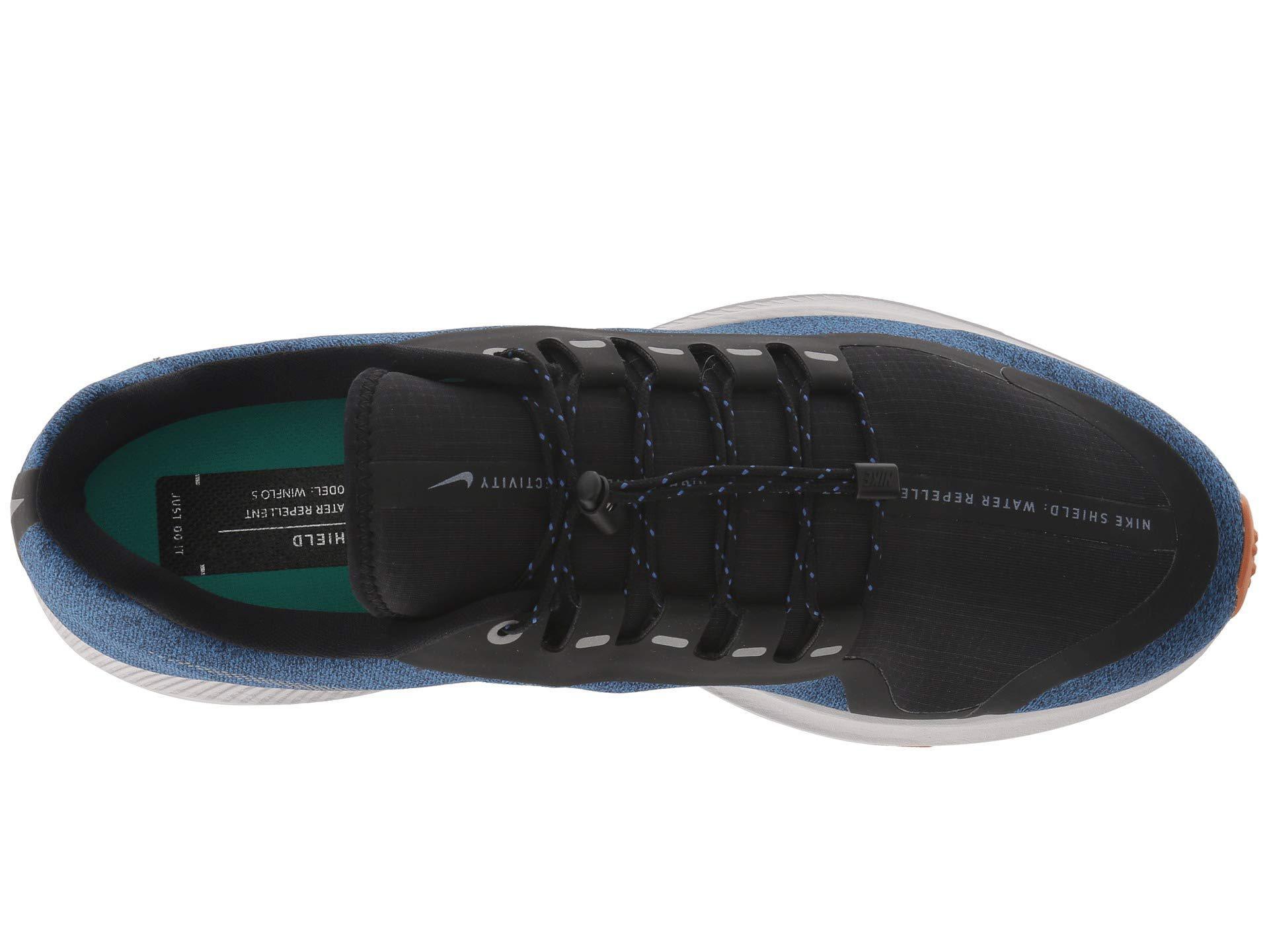 46744e48c82 Nike - Air Zoom Winflo 5 Run Shield (black metallic Silver hyper Royal.  View fullscreen