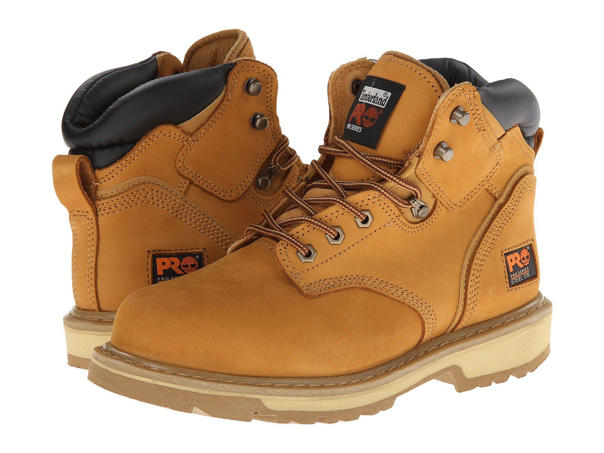 Timberland Pro Pit Boss 6In Steel Toe- Tan boots