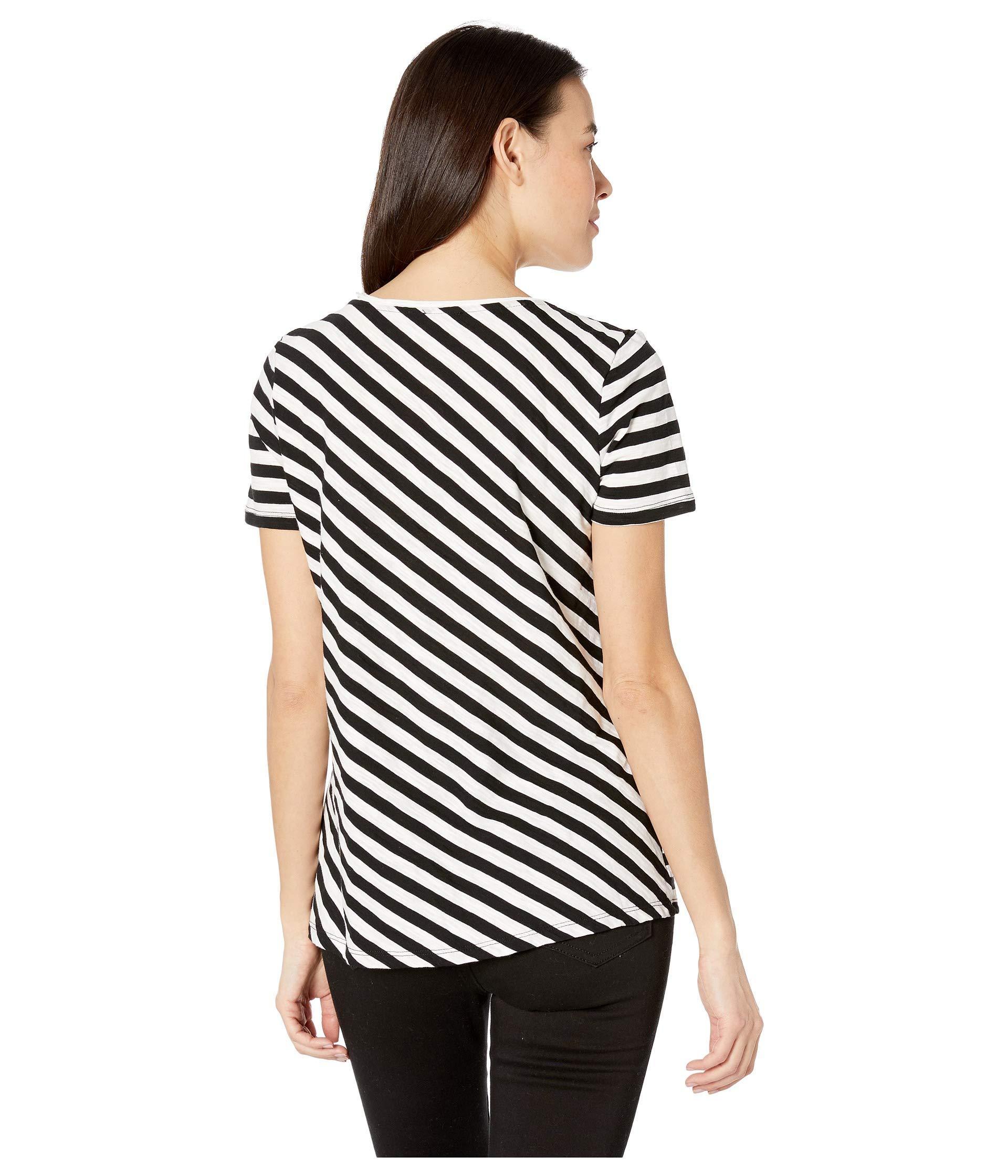 aaba8de859 ... Short Sleeve Amour City Stripe Scoop Neck Tee (rich Black. View  fullscreen