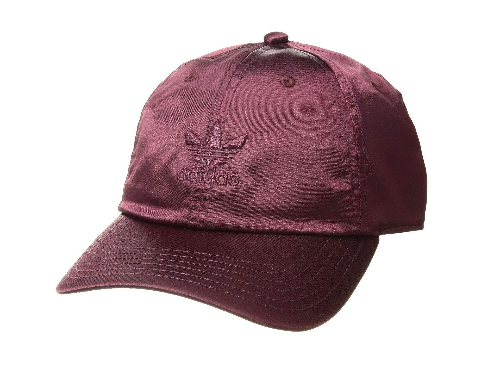 8d1629db481be adidas Originals. Women s Originals Relaxed Satin Strapback (ice Purple)  Caps