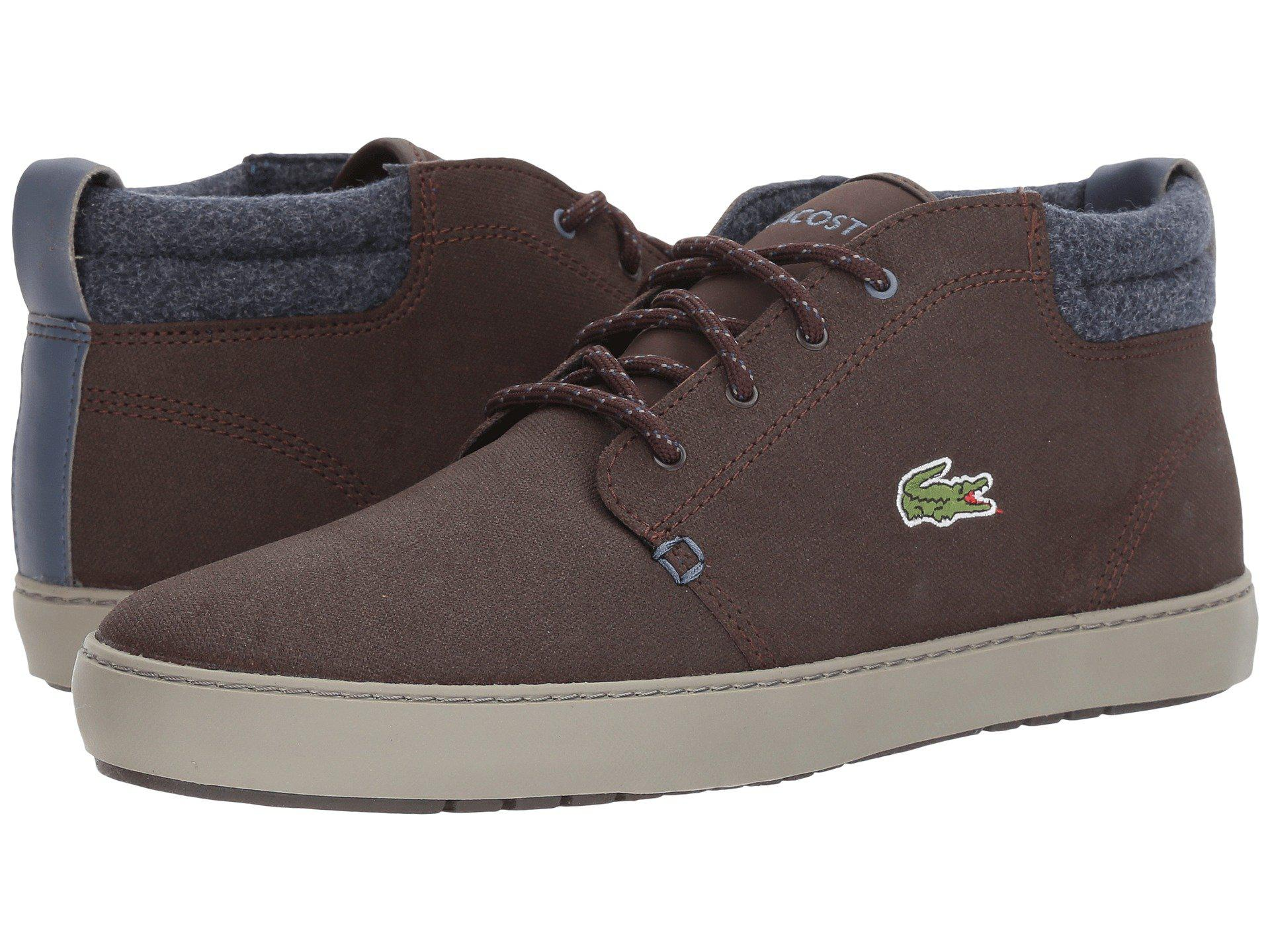 LacosteAMPTHILL - High-top trainers - khaki/tan ExFpv