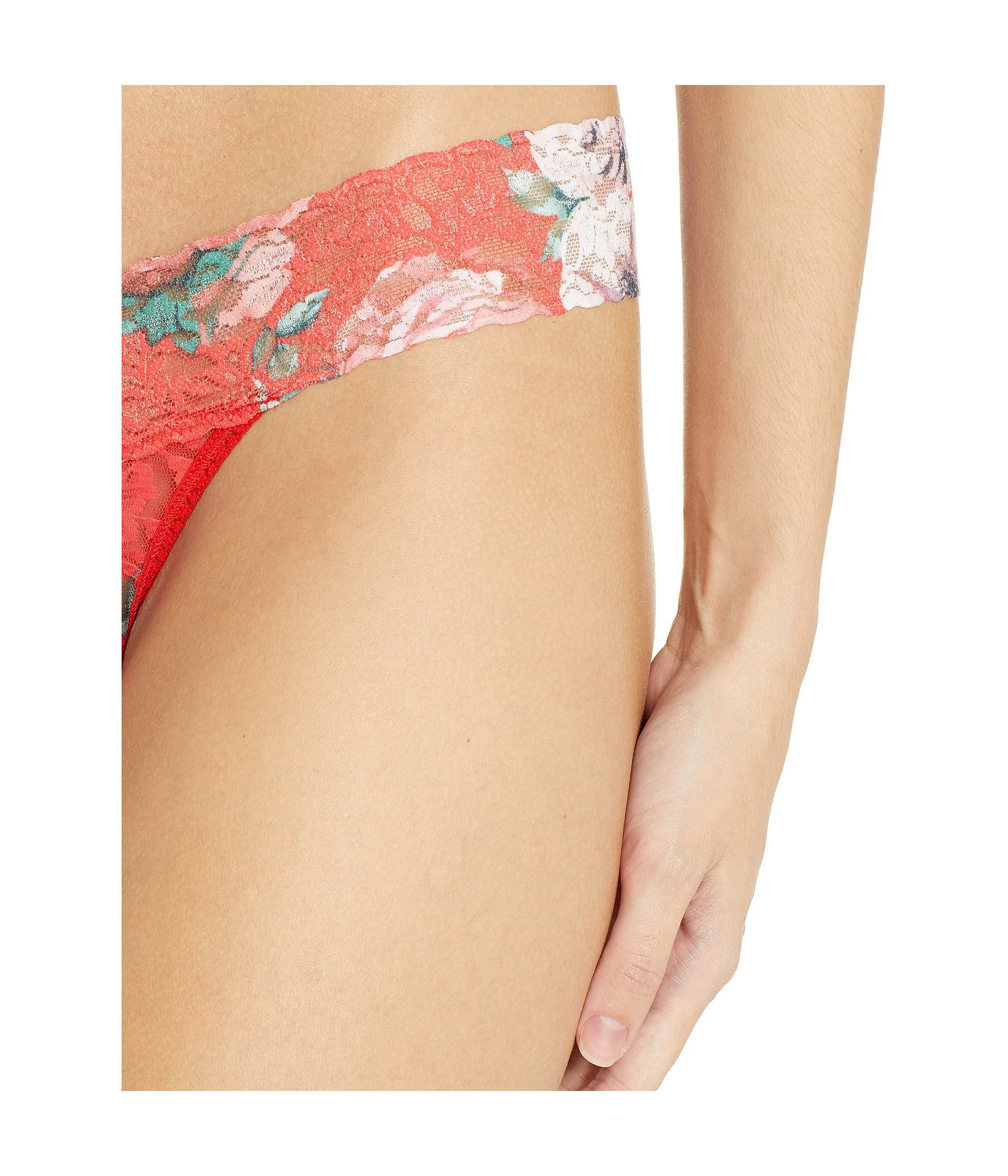a9c0e984513 Hanky Panky Petite Holiday Blossom Low Rise Thong (red Multi ...