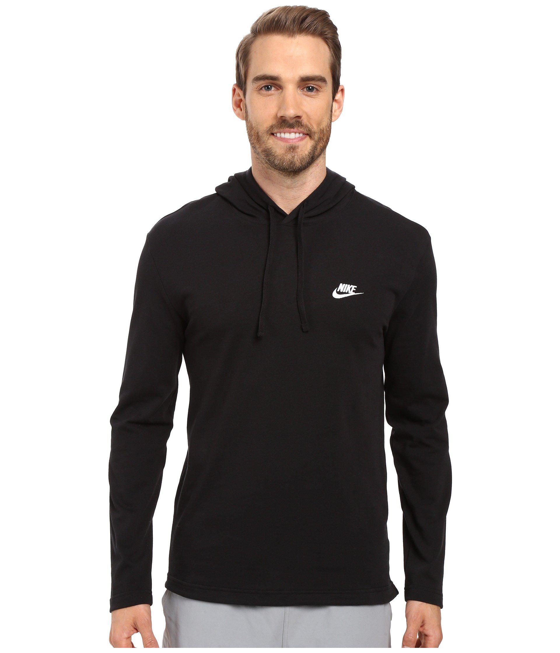 33299c7efa Lyst - Nike Club Jersey Pullover Hoodie (black white) Men s Clothing ...