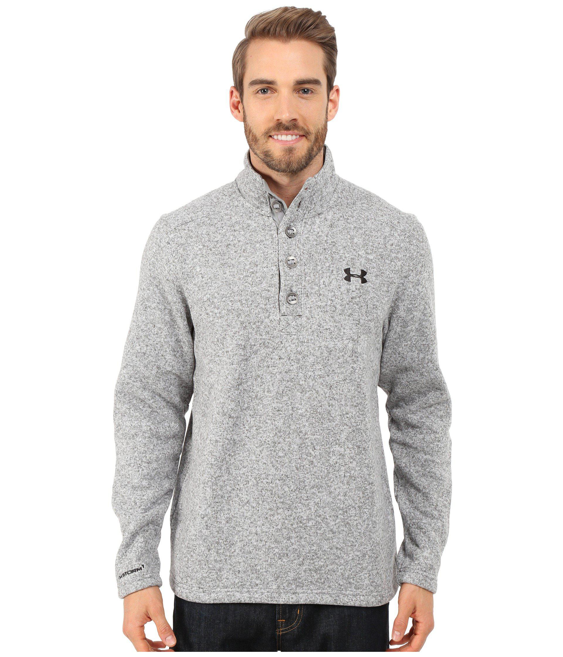 Lyst Under Armour Specialist Storm Sweater In Gray For Men