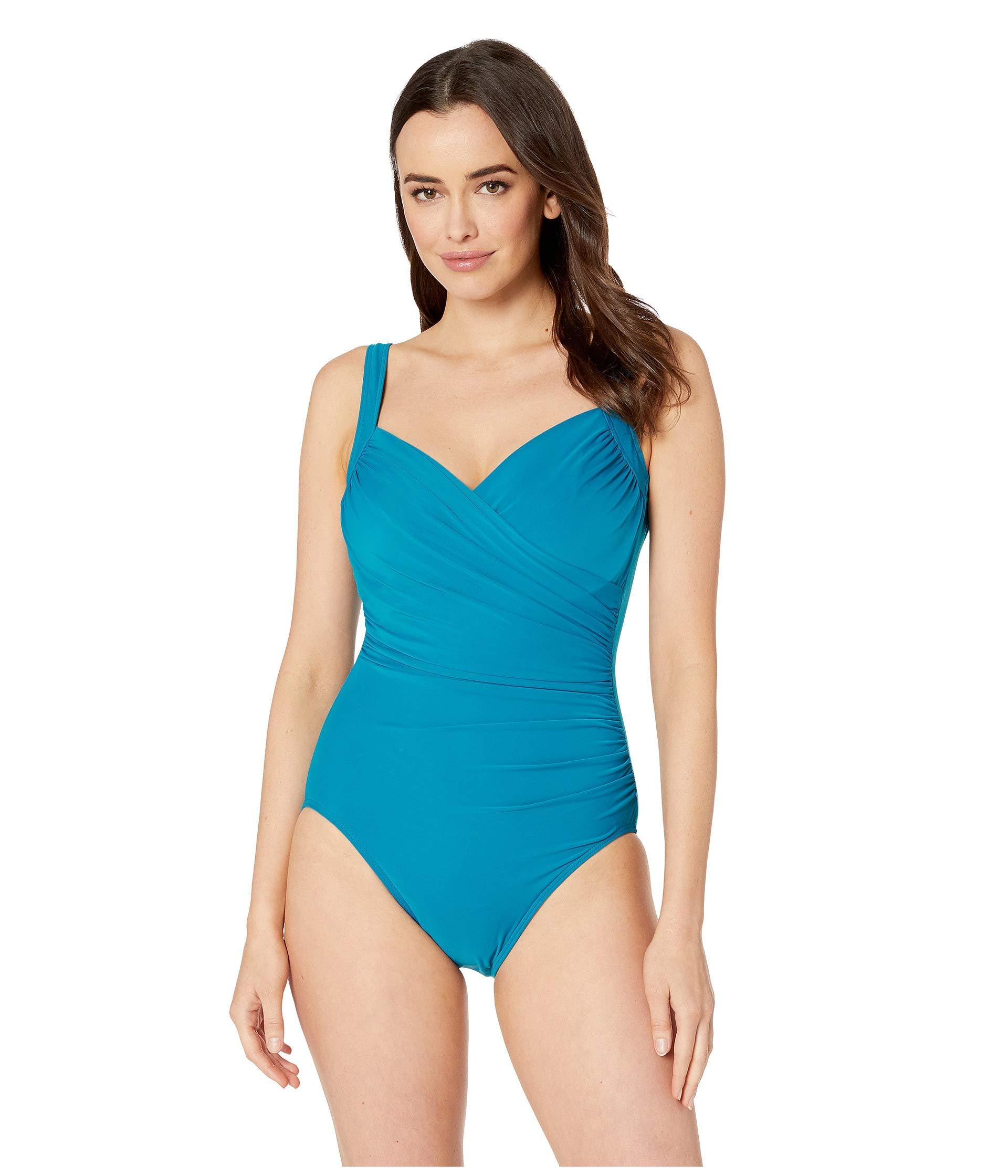5825aa95e3e88 Lyst - Miraclesuit Must Have 19 Sanibel One-piece (peacock) Women's ...
