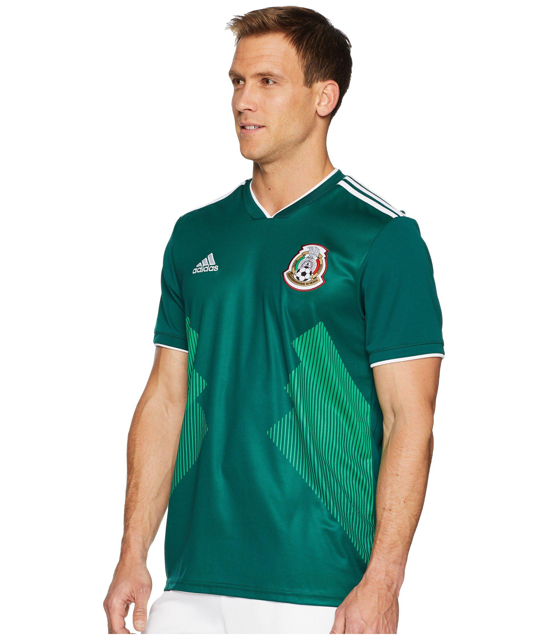 Lyst - adidas 2018 Mexico Home Replica Jersey in Green for Men 440a4f19a