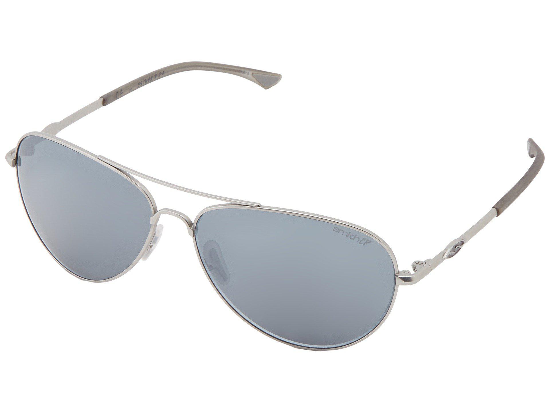 a167e2cf75 Smith Optics. Women s Metallic Audible (matte Silver Frame polar Platinum Chromapop  Lenses) Sport Sunglasses