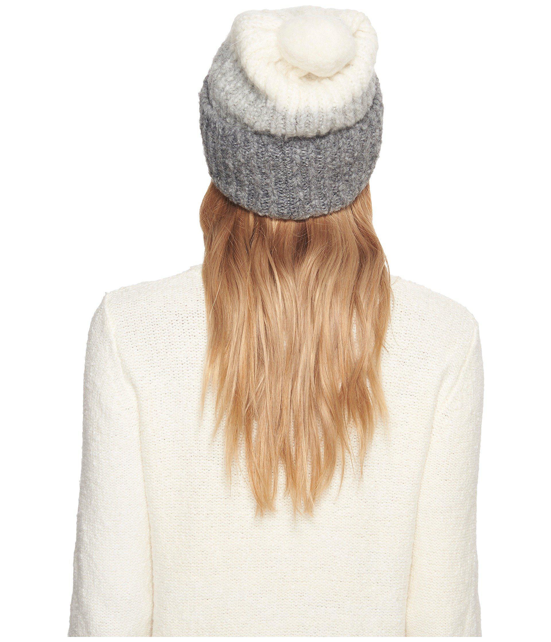 79247493678 Lyst - UGG Three Color Lofty Pom Hat in Gray