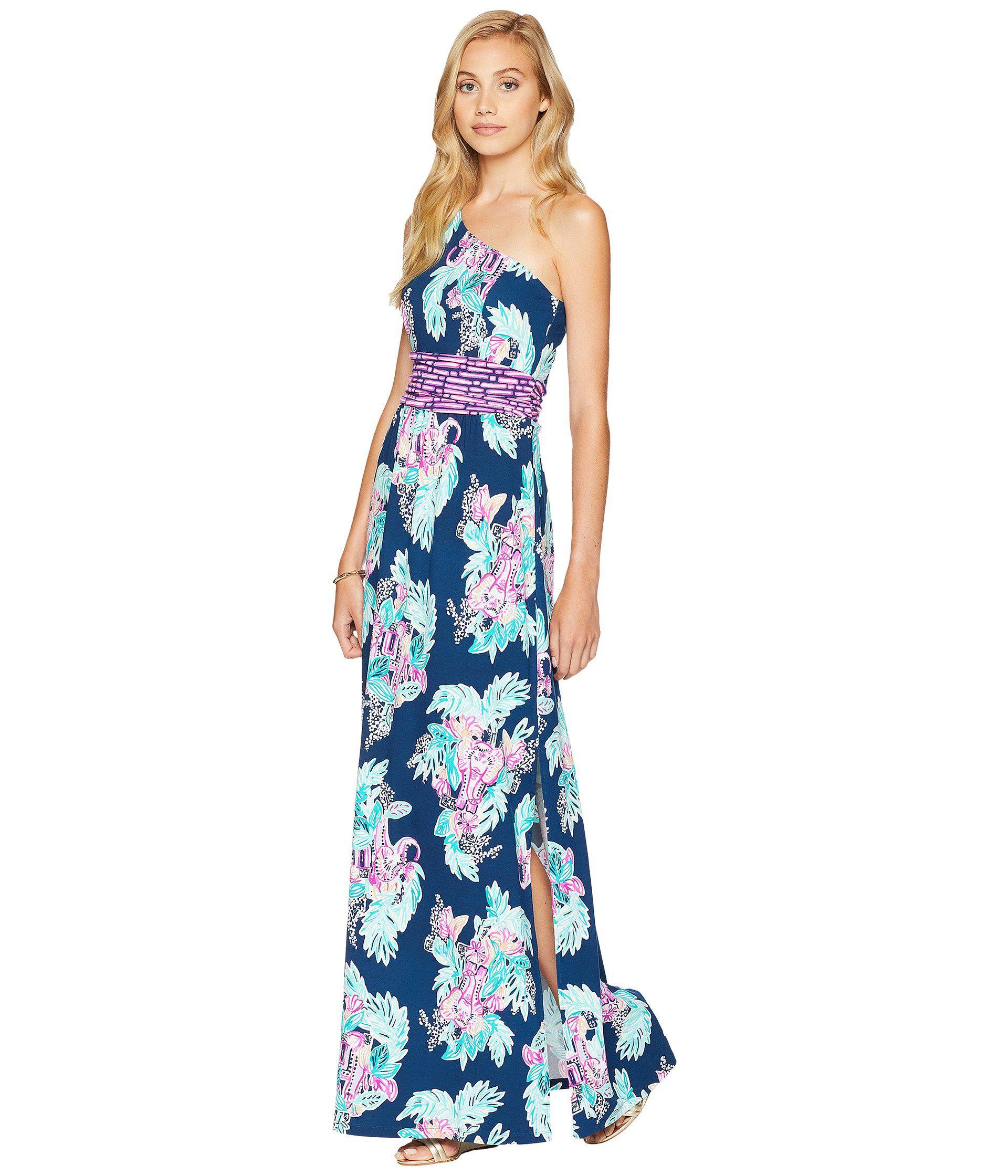 98819baddd Lilly Pulitzer Lilly Pulitzer Malia One-shoulder Maxi Dress in Blue ...