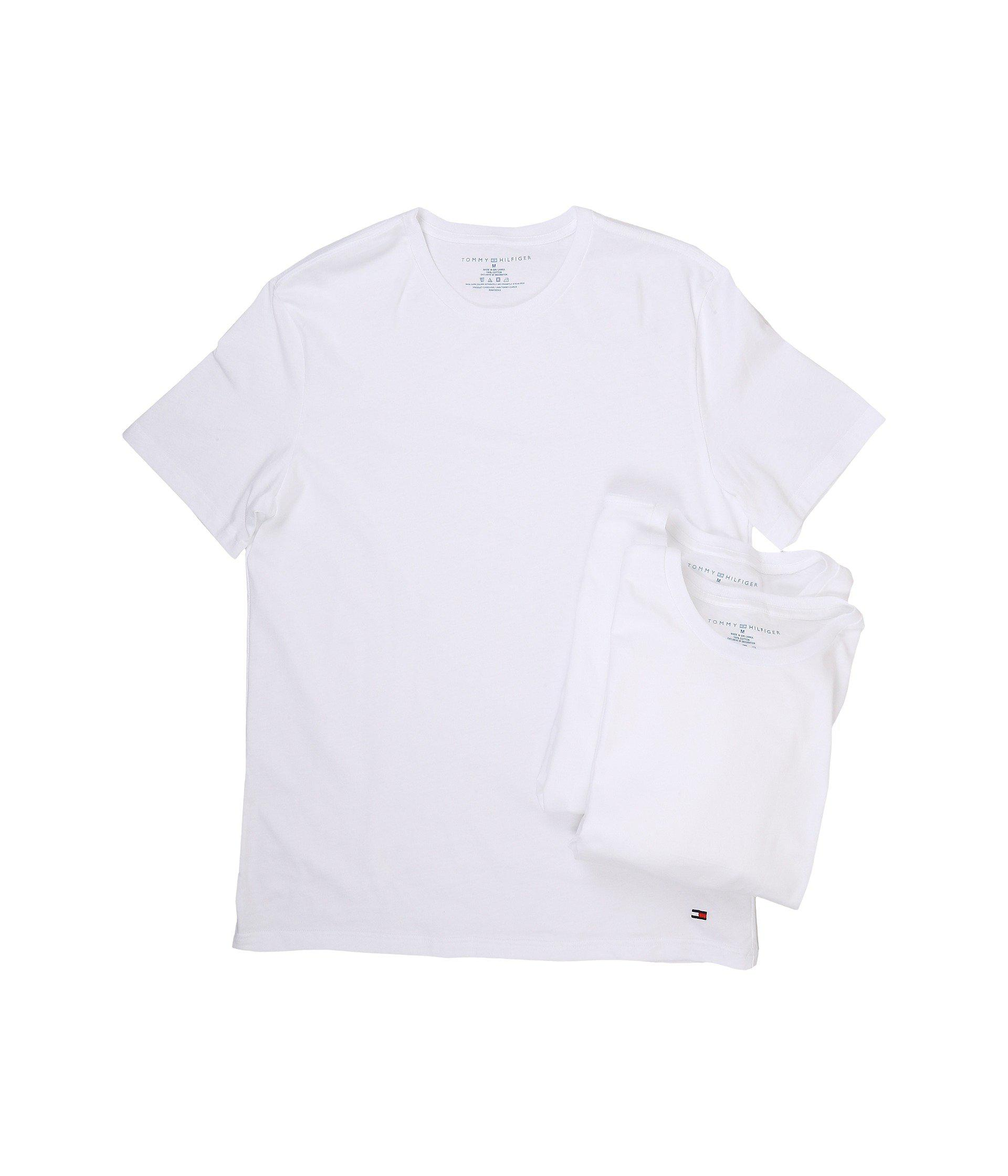 8d7020023 Lyst - Tommy Hilfiger Cotton Crew Neck Shirt 3-pack (white) Men's ...