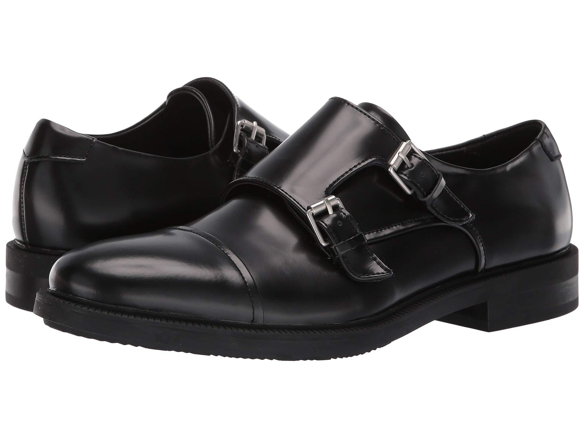 6d5bc03c227 Lyst - Calvin Klein Candon (black Box Leather) Men s Shoes in Black ...