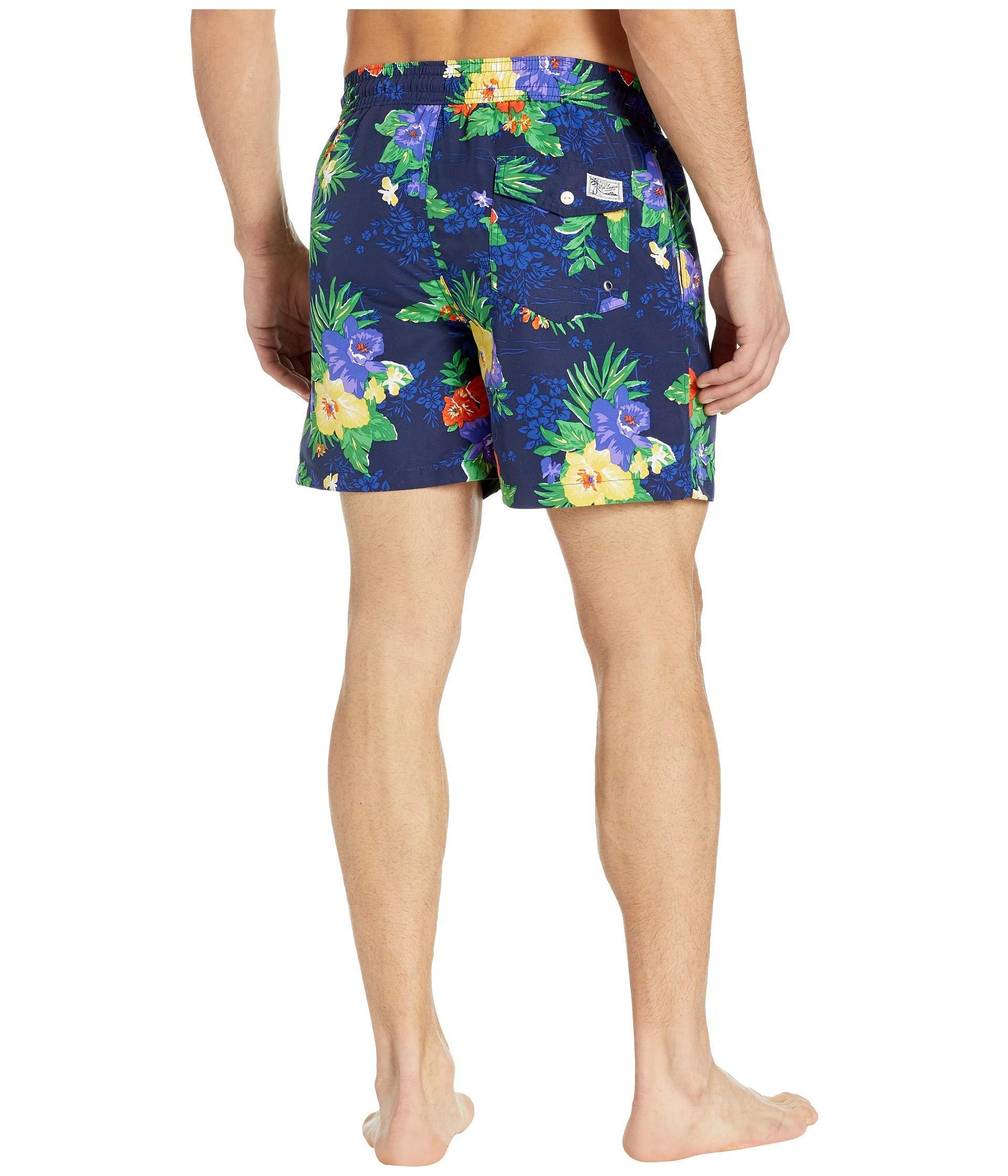 9689640f5e Polo Ralph Lauren - Blue Traveler Swim Trunks (carribean Floral) Men's Swimwear  for Men. View fullscreen