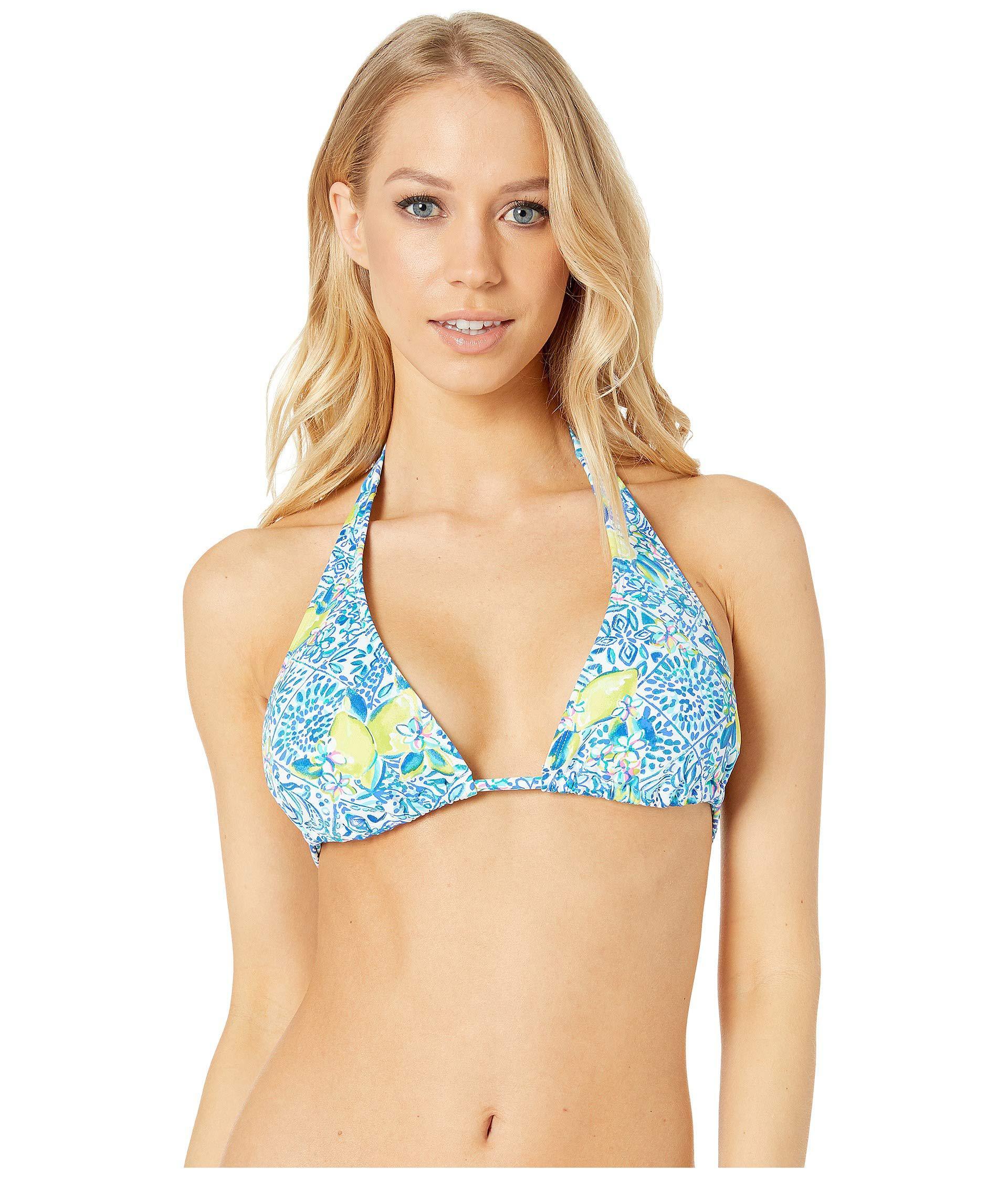 351f9b67bcf Lilly Pulitzer. Blue Guava Triangle Bikini Top (bright Navy In Too Deep) Women s  Swimwear