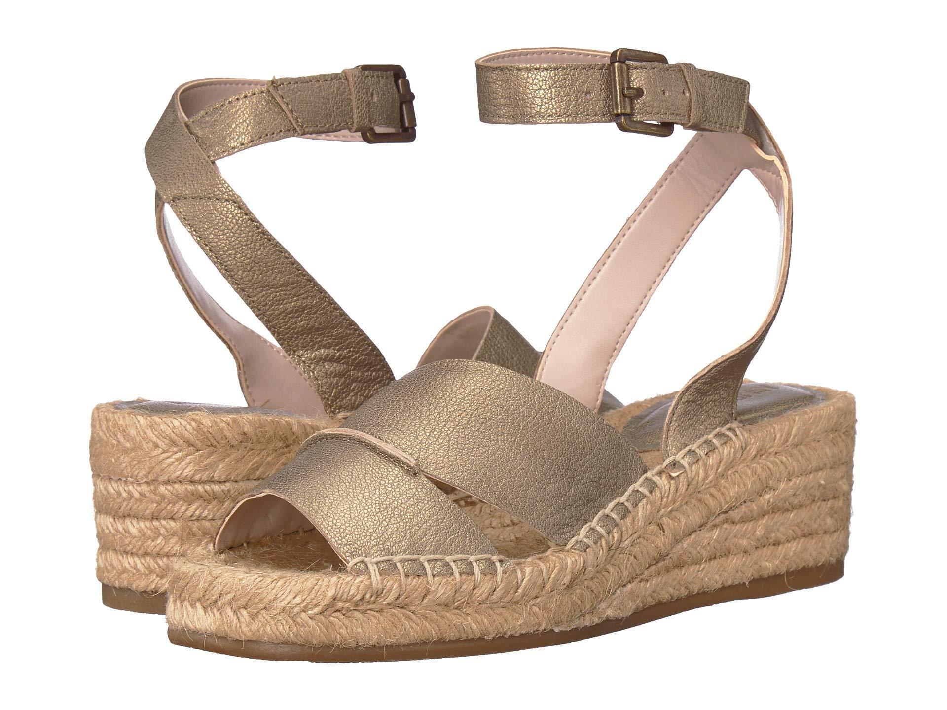 184bc75013ce Nine West - Metallic Edwisha Wedge Sandal (black) Women s Wedge Shoes -  Lyst. View fullscreen