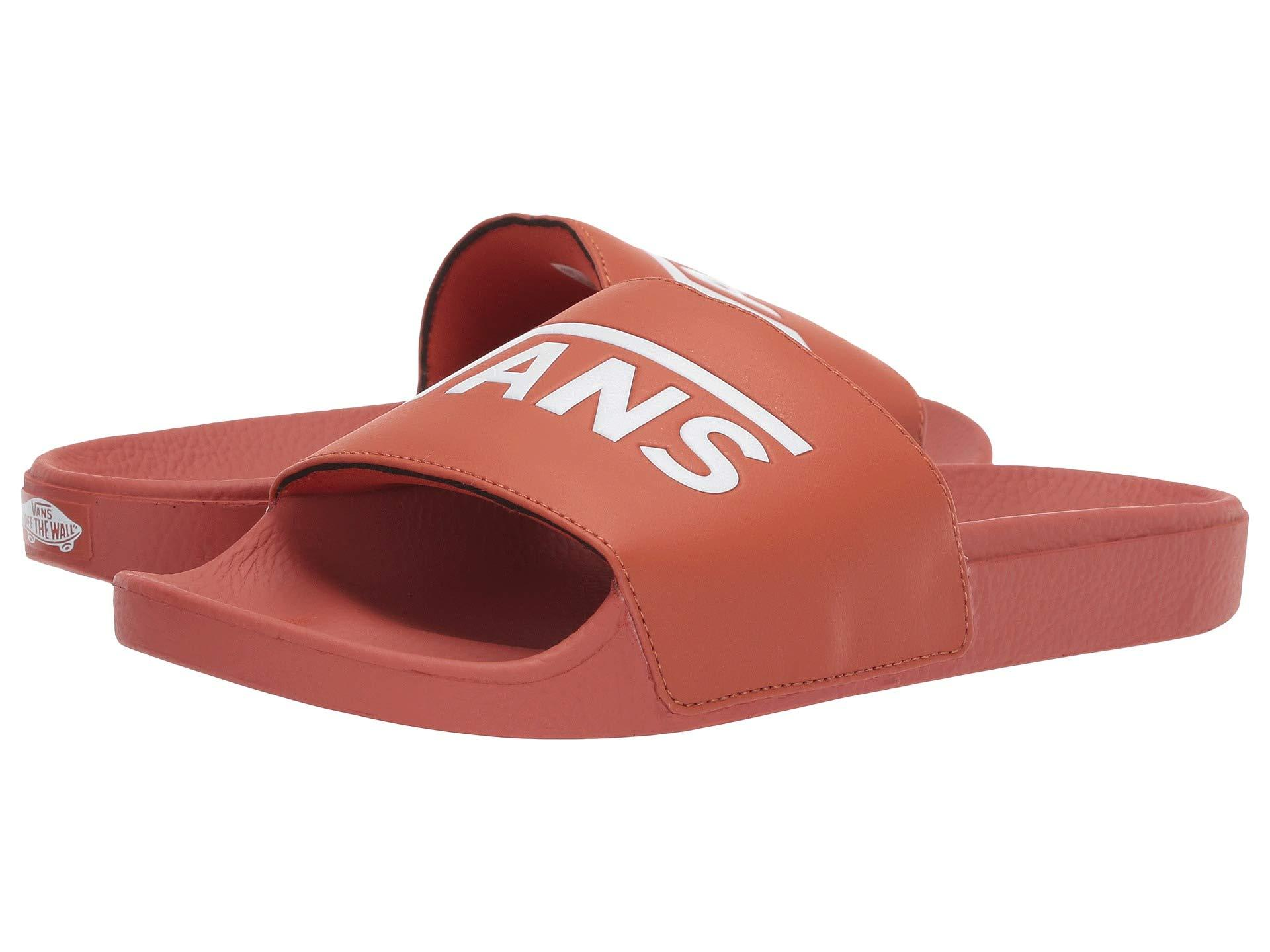8537c4238c62e Lyst - Vans Slide-on (() Potters Clay) Slide Shoes in Red for Men