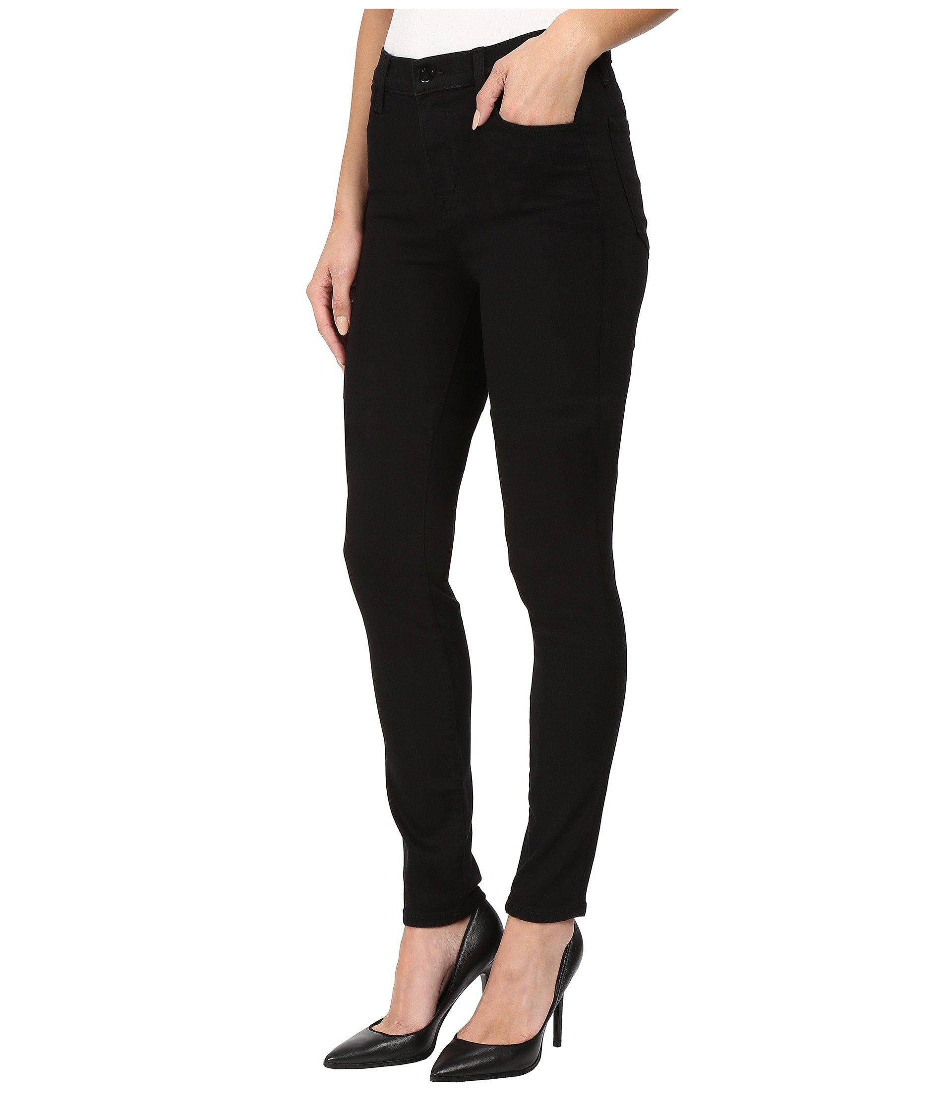2c4be8f93bc3 Lyst - J Brand Maria High-rise Skinny In Seriously Black (seriously Black)  Women's Jeans in Black