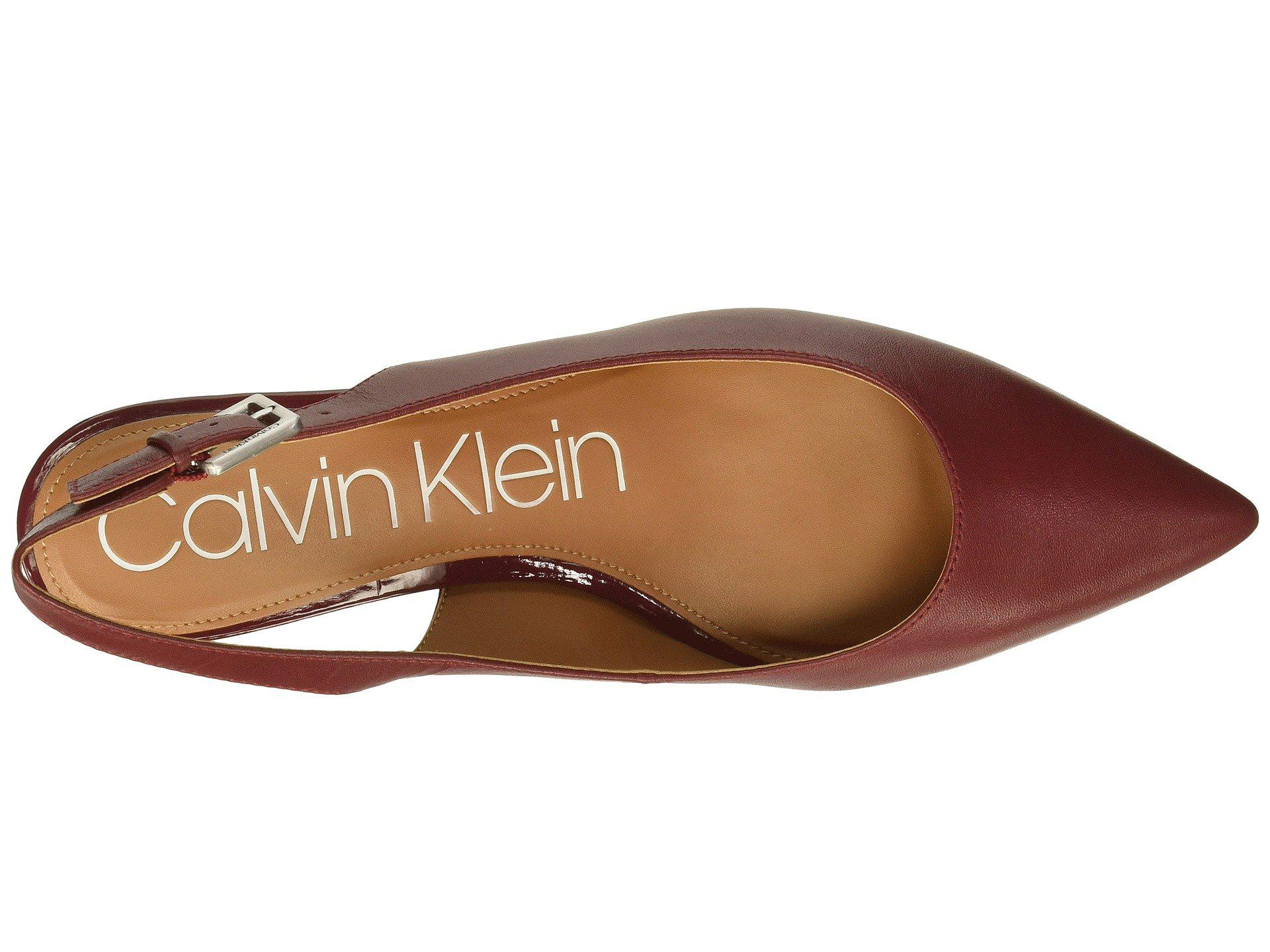 24430a306c3 Lyst - Calvin Klein Glorianne (red Rock Nappa) Women s Shoes