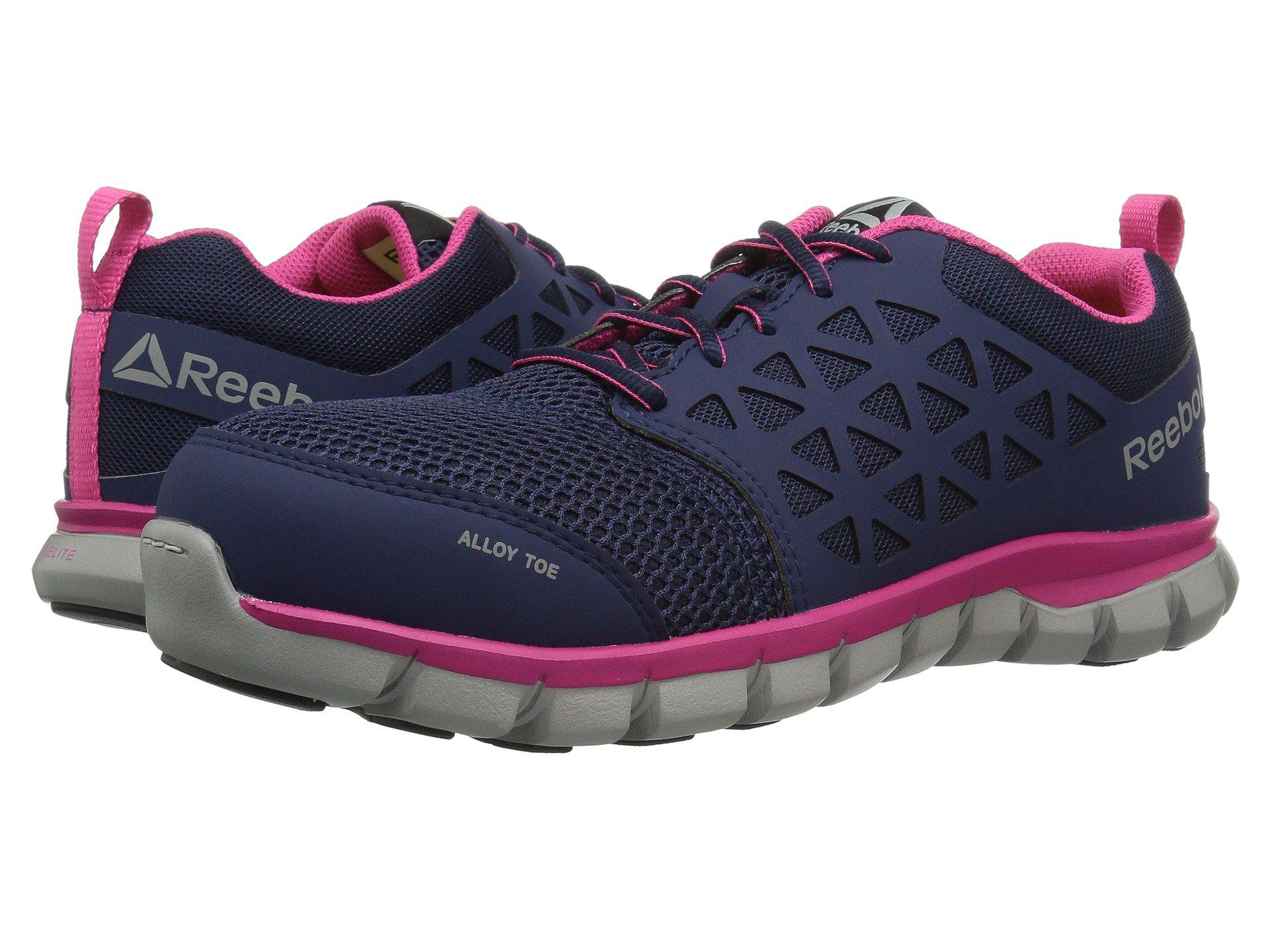 Lyst - Reebok Sublite Cushion Work (black 1) Women s Work Boots in Blue 8b1045178