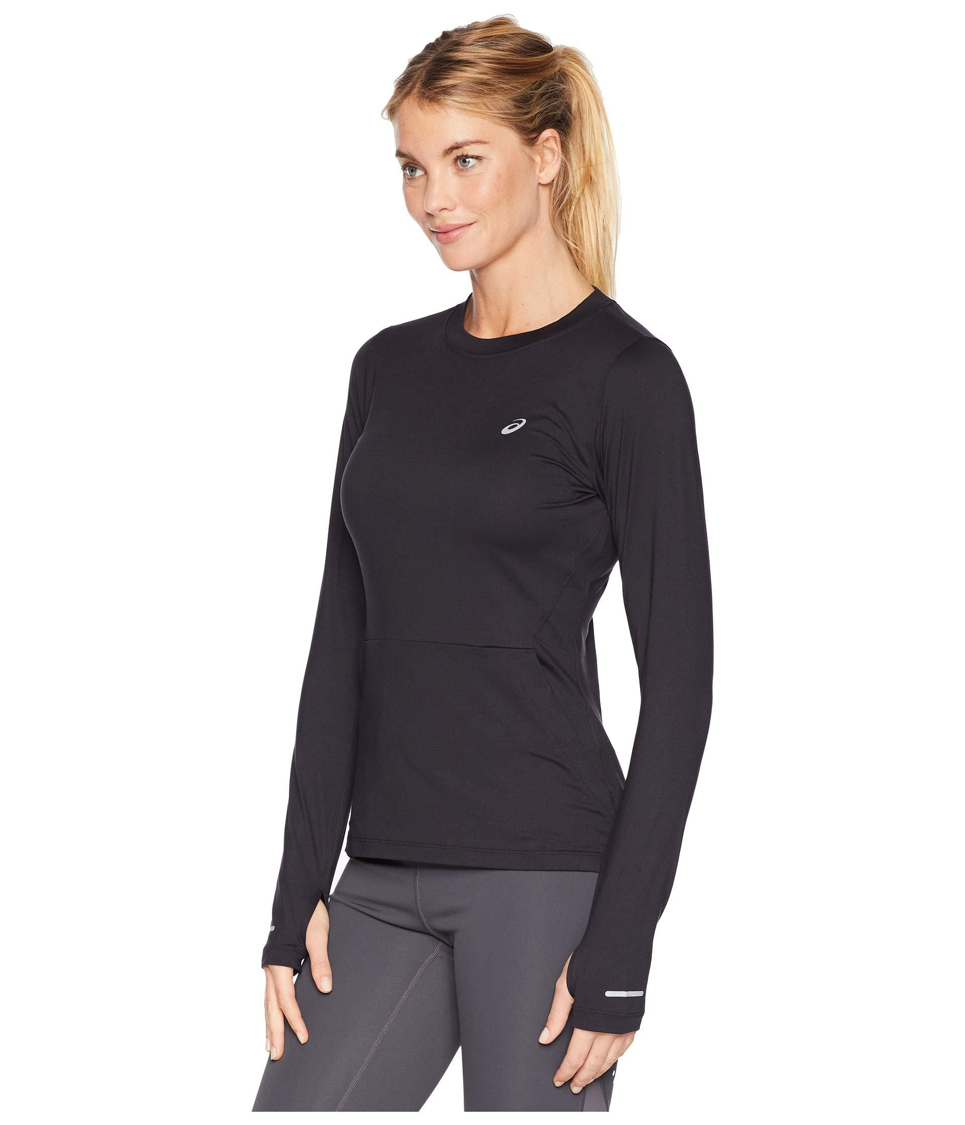 8a0ee268fa4c Lyst - Asics Thermopolistm Plus Long Sleeve Top (performance Black) Women s  Long Sleeve Pullover in Black