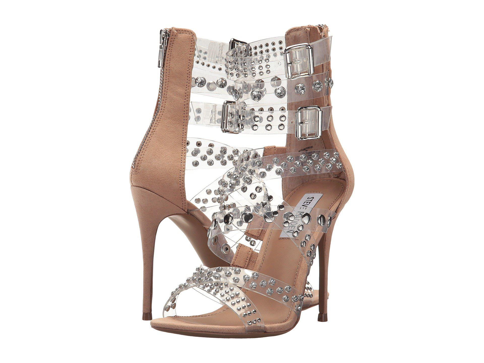 very cheap price cheap the cheapest Steve Madden Moto Embellished Strappy Heeled Sandals official online cheap good selling cheap visa payment kXuEQ