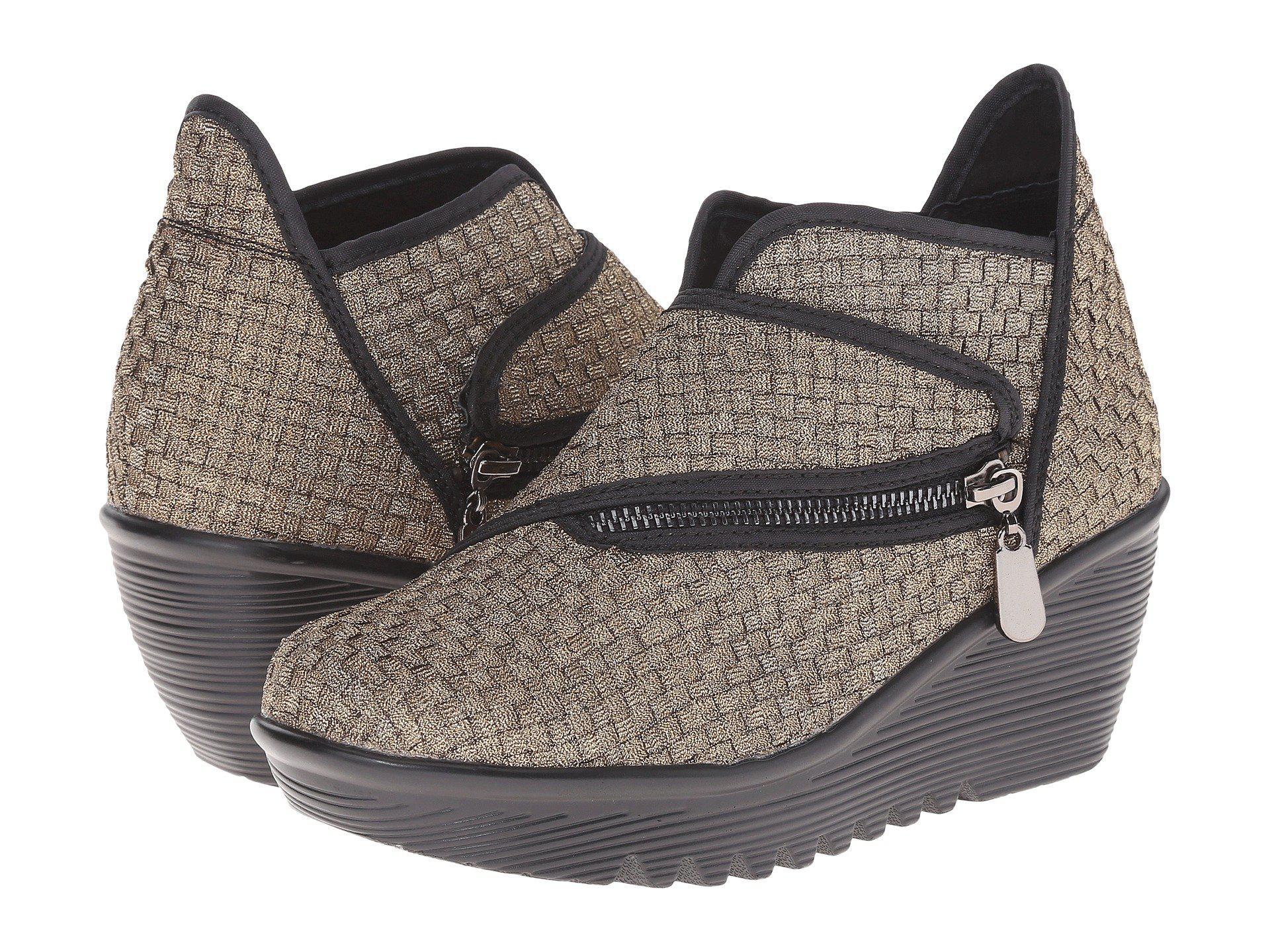 7de9f3bd01e7 Lyst - Bernie Mev Zigzag (black) Women s Wedge Shoes in Metallic