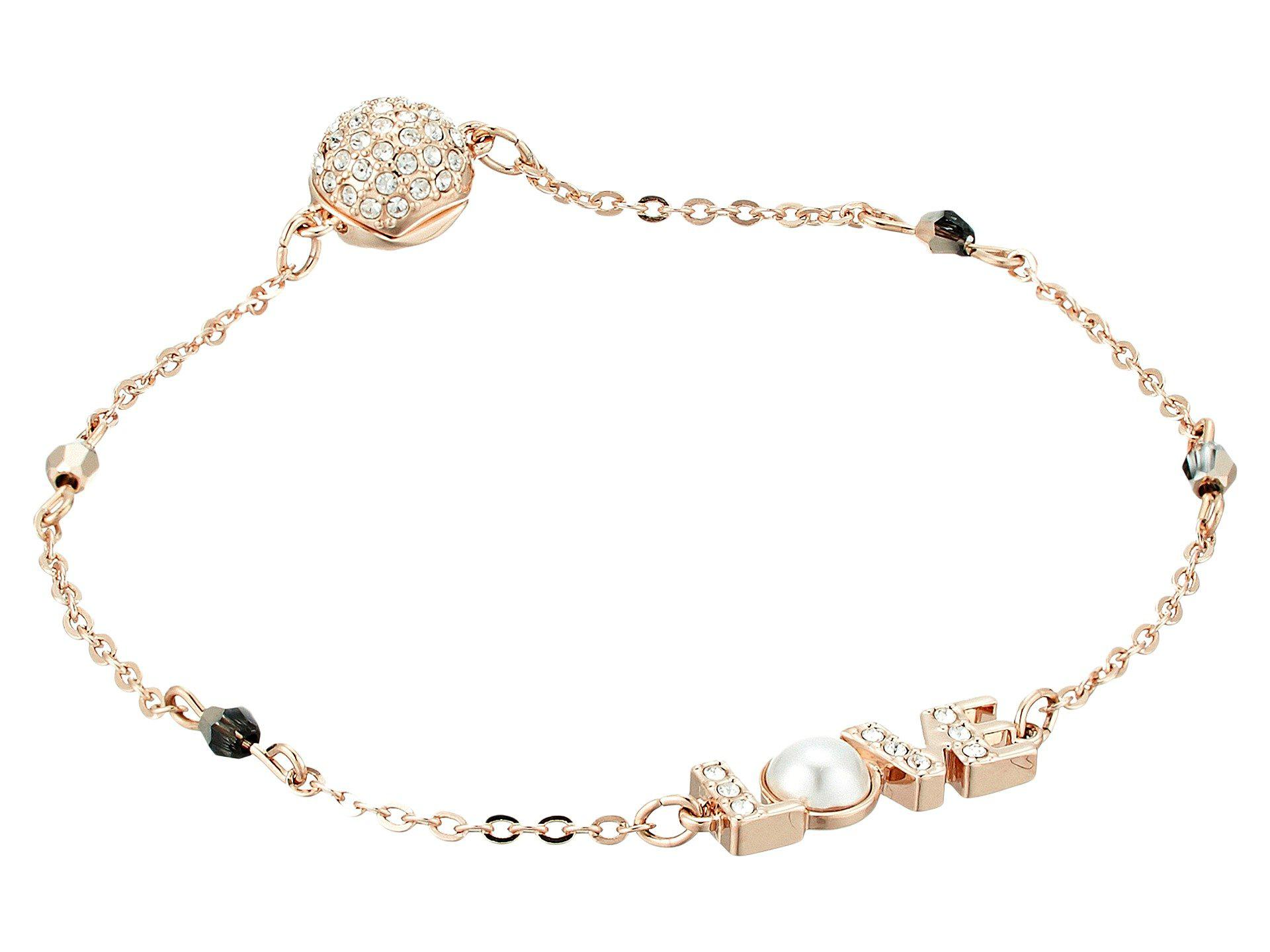 21f3a6460f7f9 Lyst - Swarovski Remix Collection Love Bracelet (white) Bracelet in ...