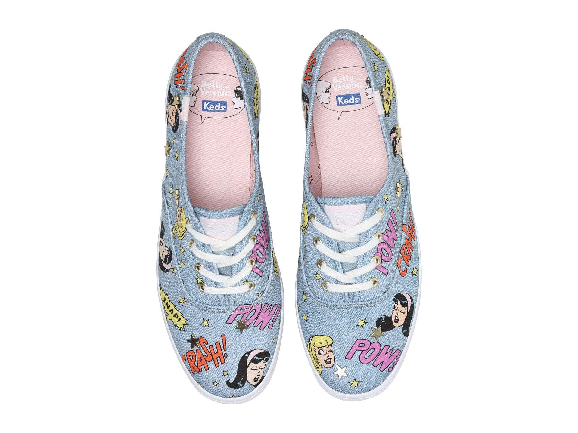 new concept a2e03 8c47f Lyst - Keds X Betty And Veronica Champion Pop Print (indigo Denim ...