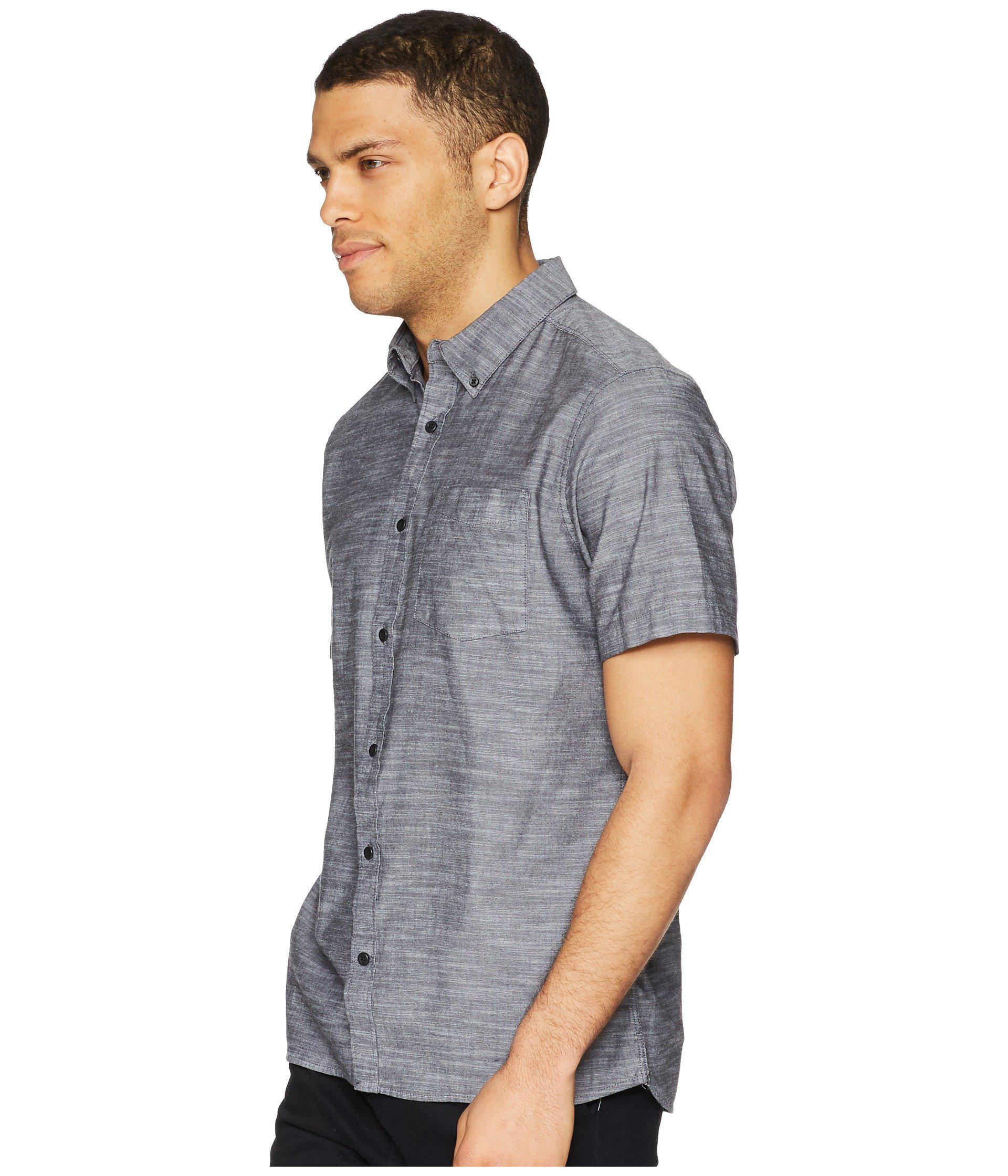 424b004963 Lyst - Hurley One Only 2.0 Short Sleeve Woven (black) Men's Clothing ...