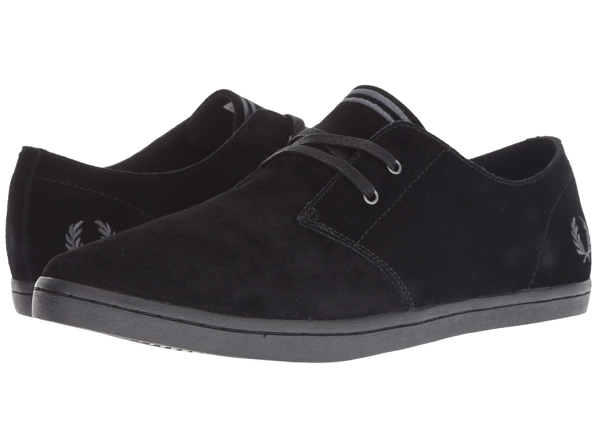 95a0c408dd1425 Lyst - Fred Perry Byron Low Suede (almond) Men s Shoes in Black for Men