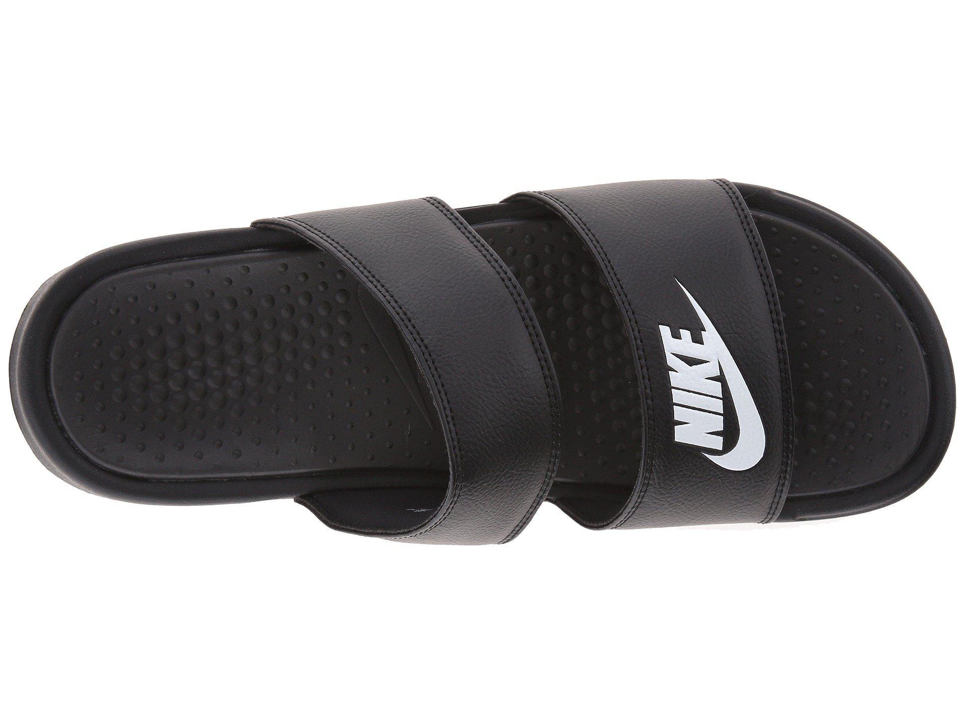 e5e739319b17d Nike - Black Benassi Duo Ultra Slide (white metallic Silver) Women s Slide  Shoes. View fullscreen