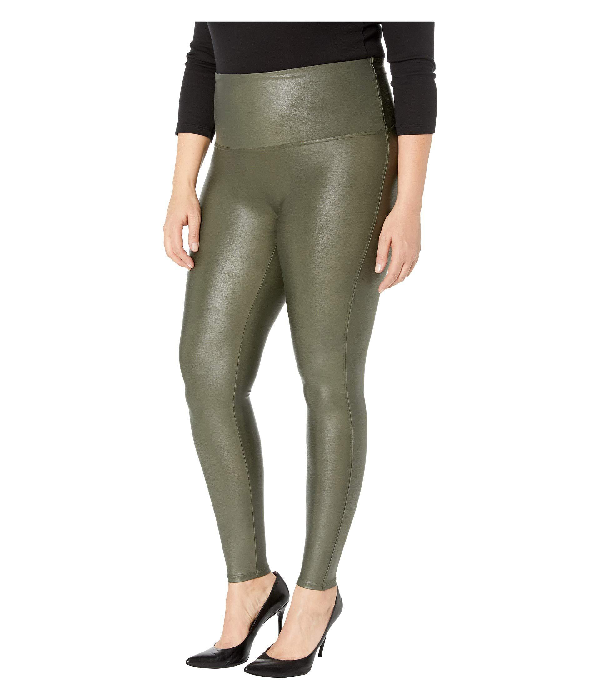 ee5126ad58d1 Lyst - Spanx Plus Size Faux Leather Leggings (black) Women s Clothing in  Green