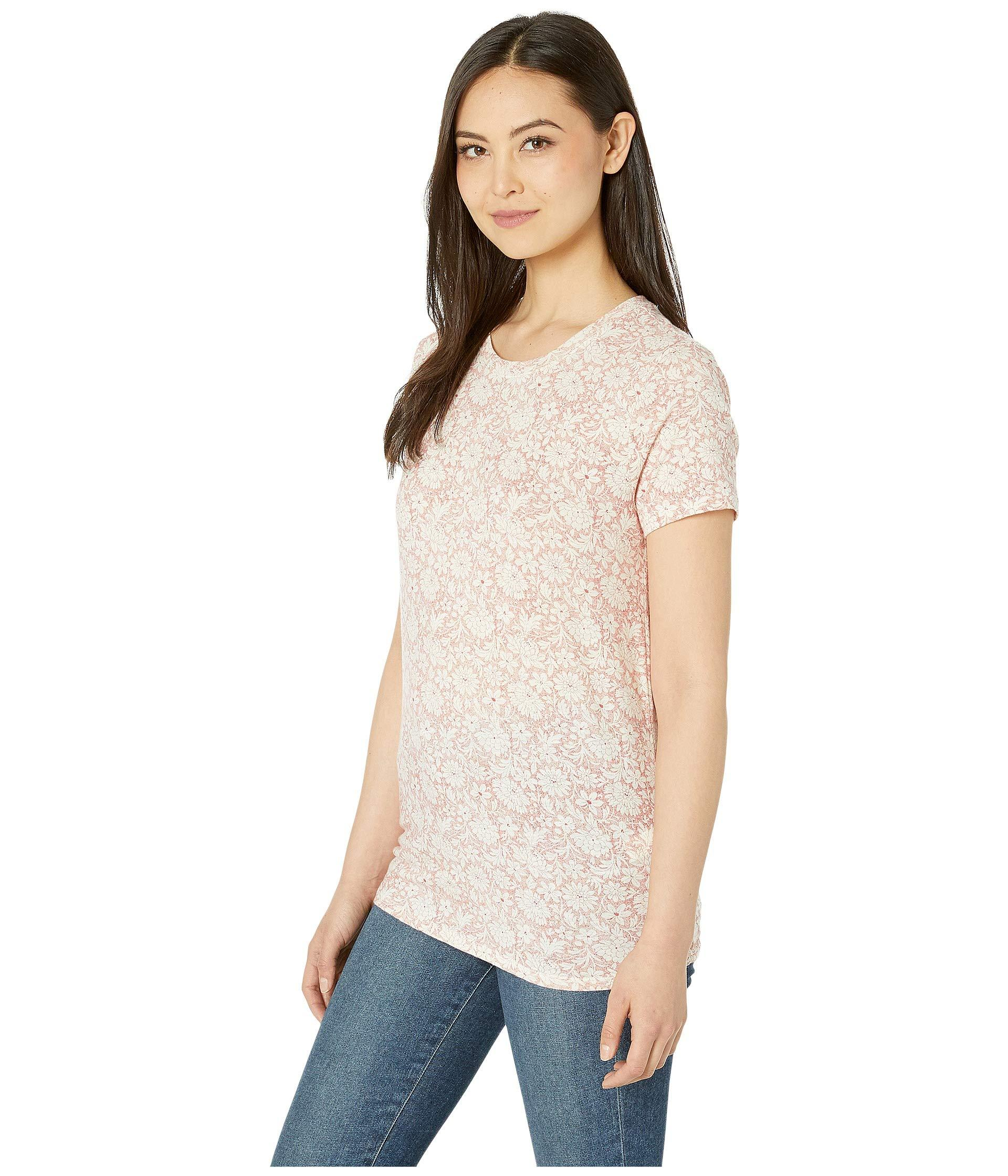 b9769229 Lyst - Lucky Brand All Over Floral Tee (blue Multi) Women's T Shirt