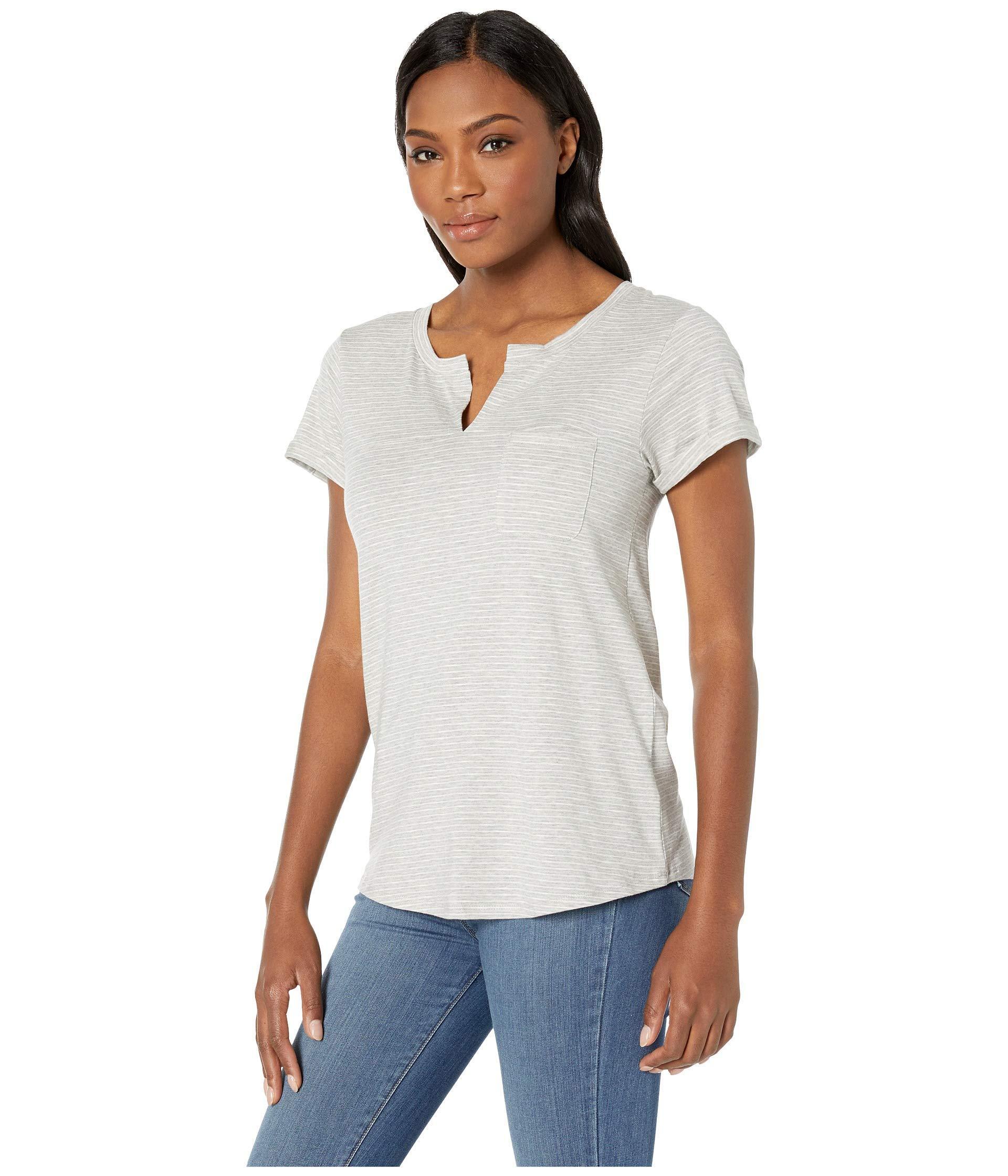 61746a241b Lyst - Toad&Co Sambasta Short Sleeve Tee (heather Grey Mini Stripe) Women's  T Shirt in Gray