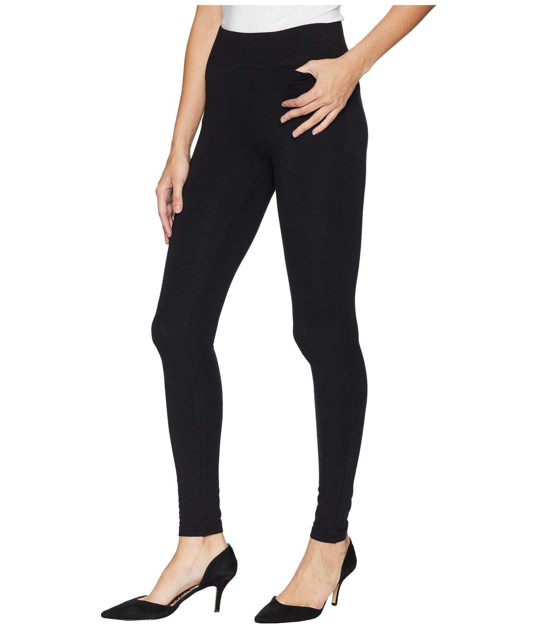 2d55d145704da4 Lyst - Hue Hold It Ultra Leggings With Wide Waistband And Hidden Pocket  (black) Women's Casual Pants in Black