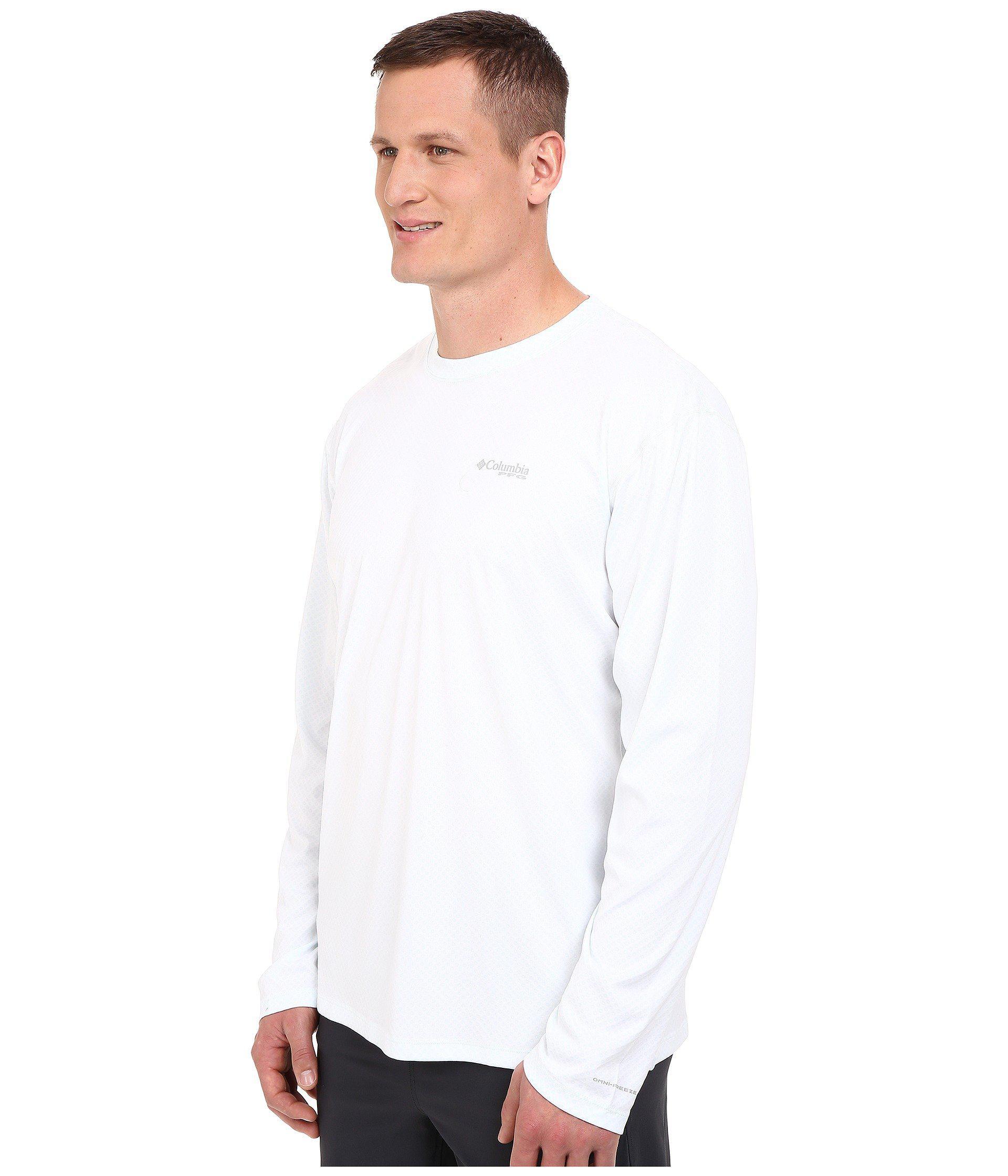 d880dd163b6 Lyst - Columbia Pfg Zero Rulestm L/s Shirt - Big (white) Men's Long Sleeve  Pullover in White for Men