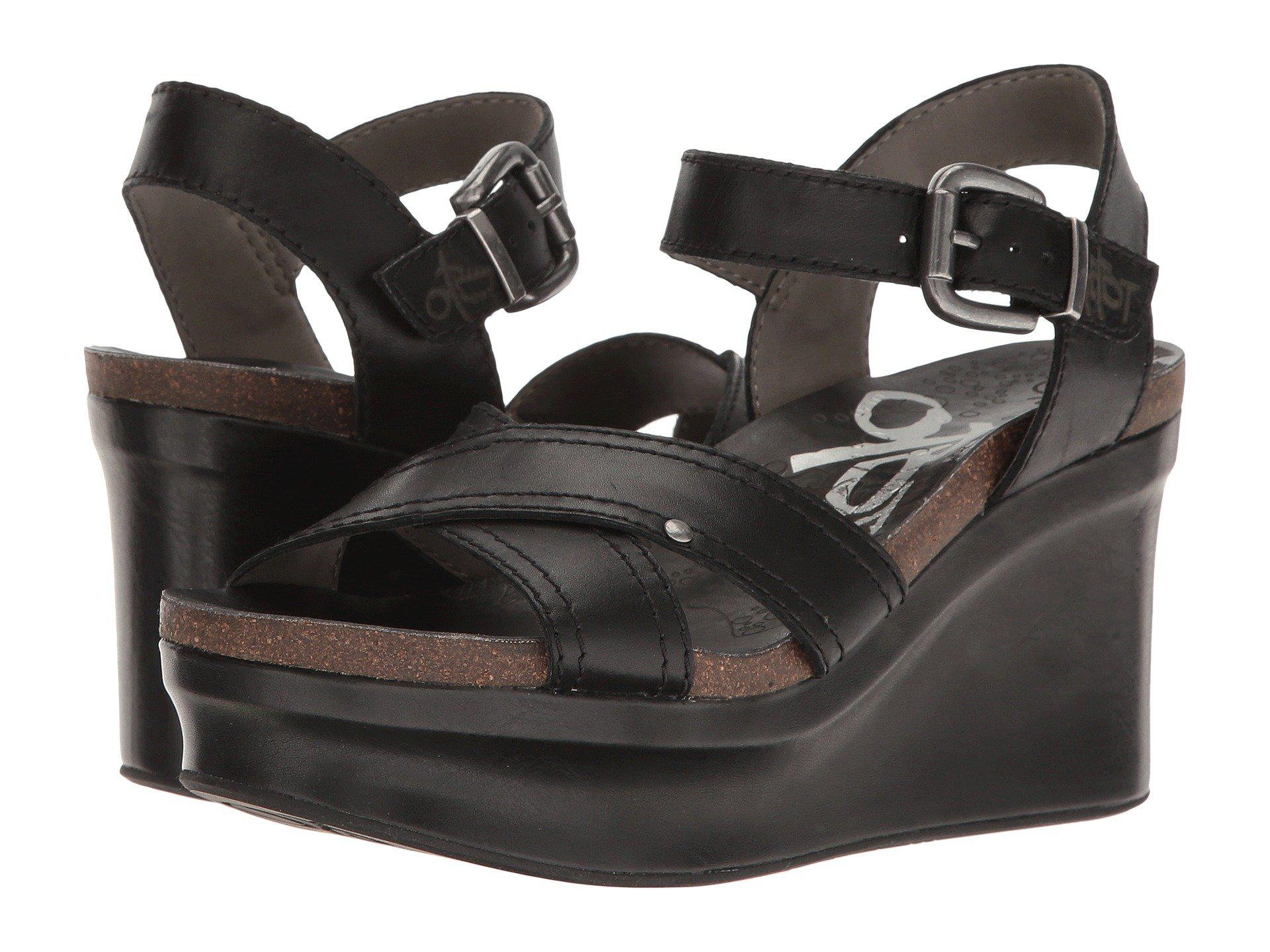 8f9f7606584 Lyst - Otbt Bee Cave (black) Women s Wedge Shoes in Black