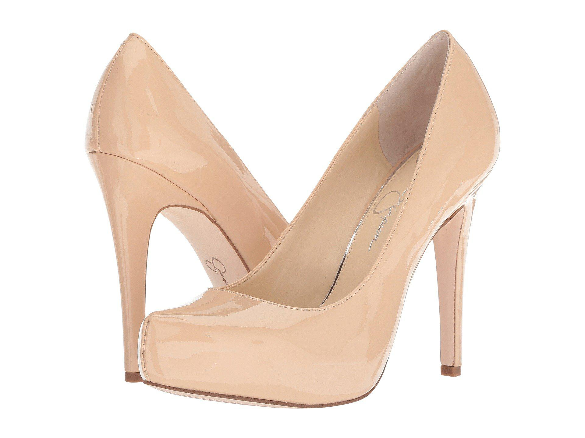 d9d48fc9a Lyst - Jessica Simpson Parisah (sand Dune Patent) High Heels in Natural