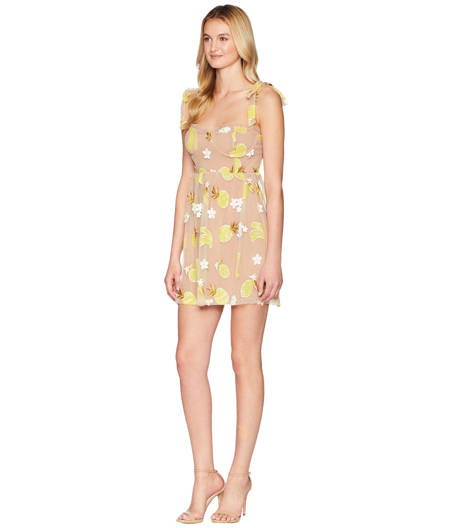 d2b6cb68030f For Love & Lemons Fruit Punch Sequin Mini Dress (pineapple) Women's ...