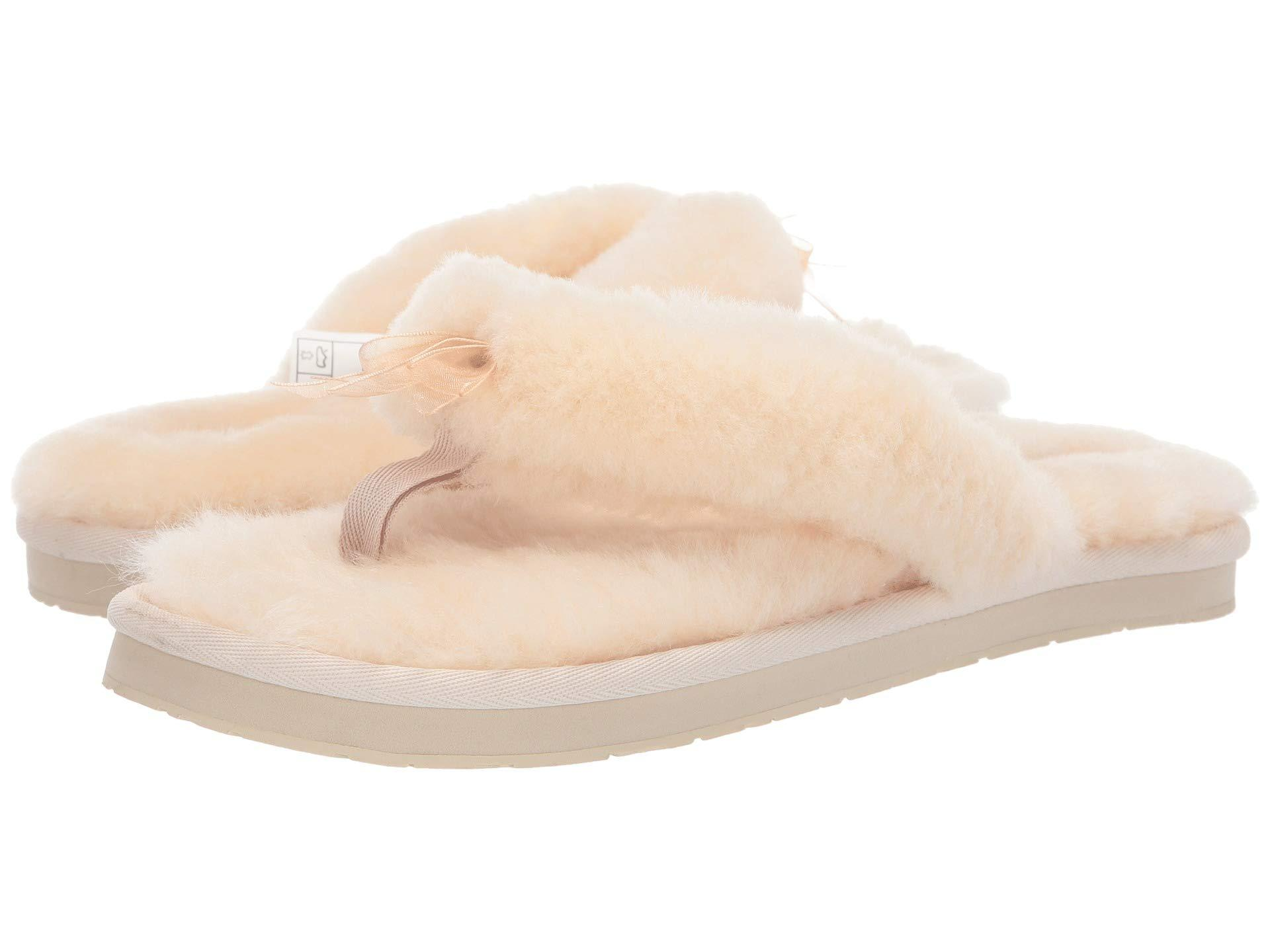 6a031fc5d10c Lyst - UGG Fluff Flip Flop Iii (agave Glow) Women s Slippers in Natural