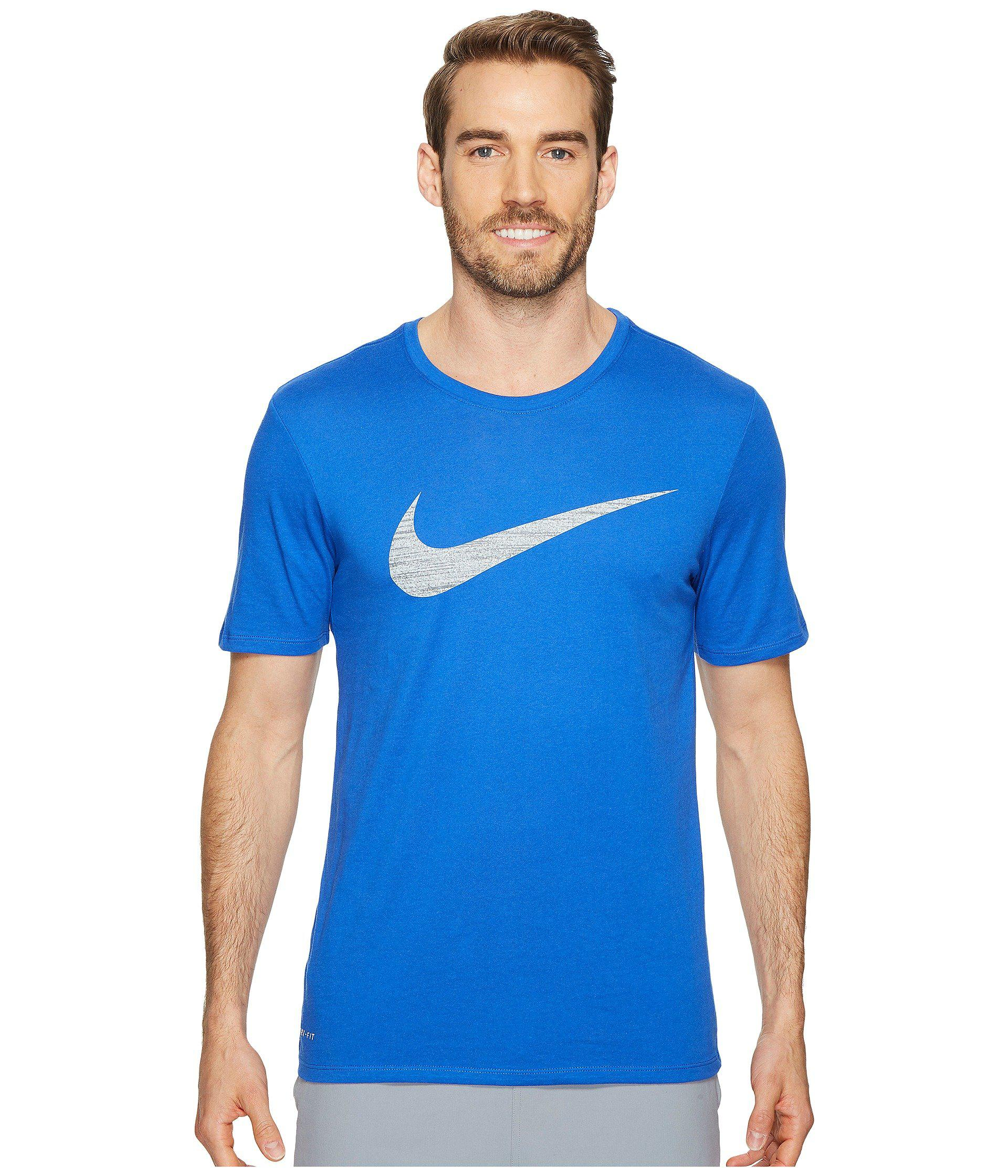 5bf28dded Lyst - Nike Dry Swoosh Training T-shirt in Blue for Men