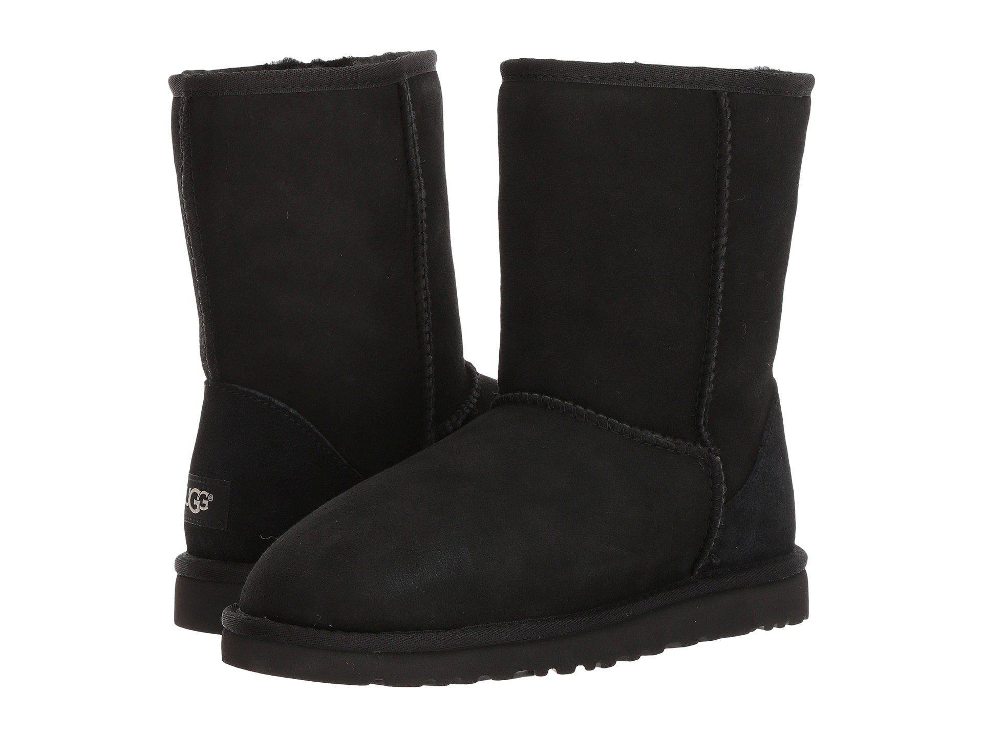 lyst ugg classic short chestnut men s pull on boots in black for men rh lyst com