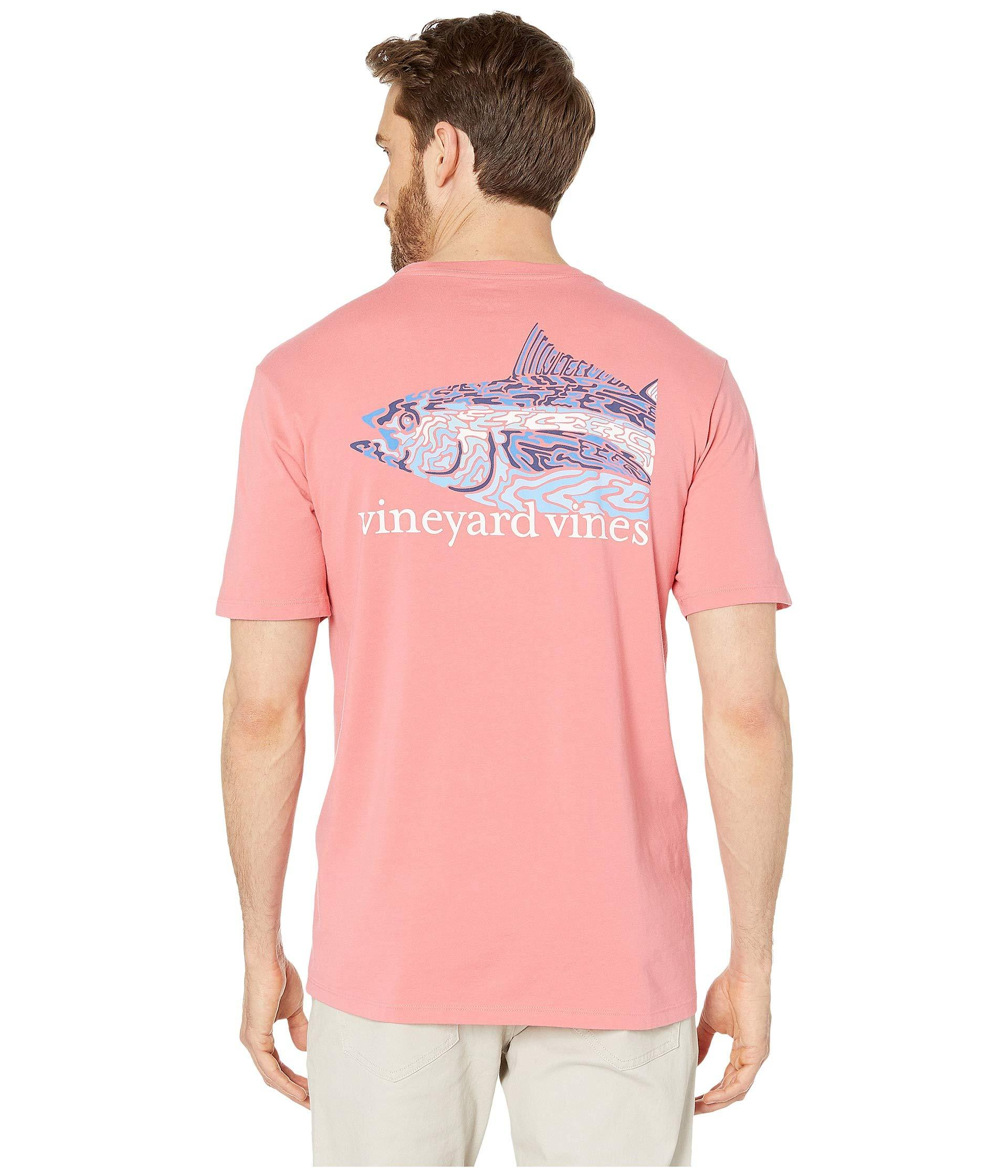 7bede837 Vineyard Vines Short Sleeve Camo Tuna Pocket Tee (lobster Reef ...